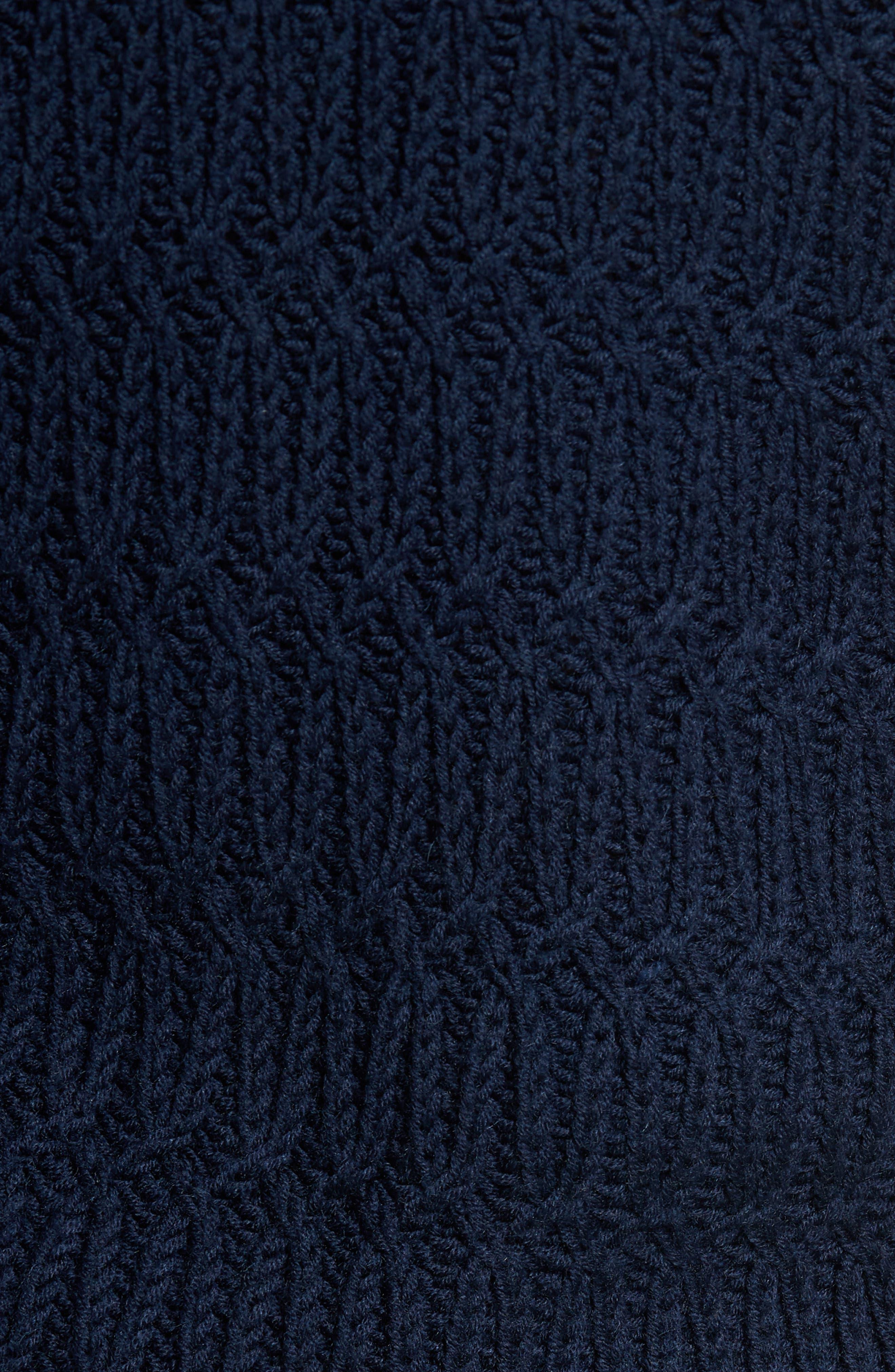 Chunky Turtleneck Sweater,                             Alternate thumbnail 7, color,                             Navy Iris