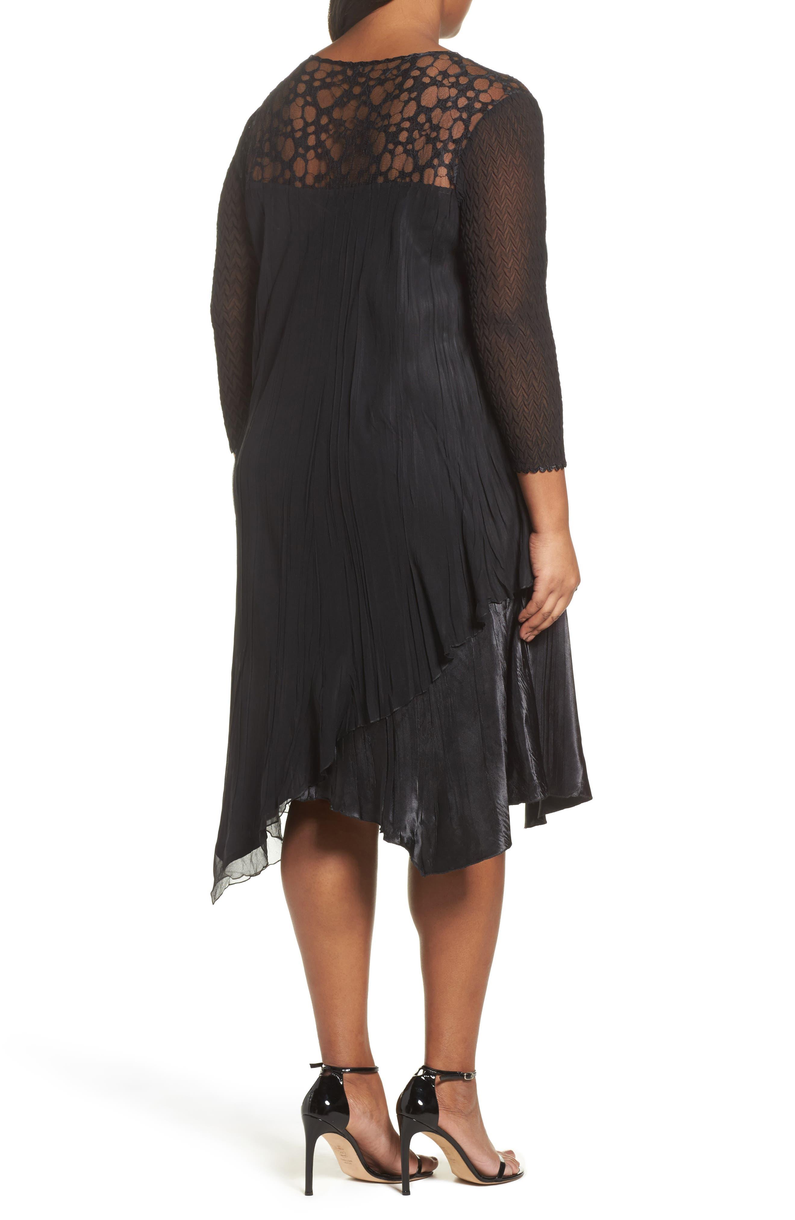 Alternate Image 2  - Komarov Circle Lace Dress (Plus Size)