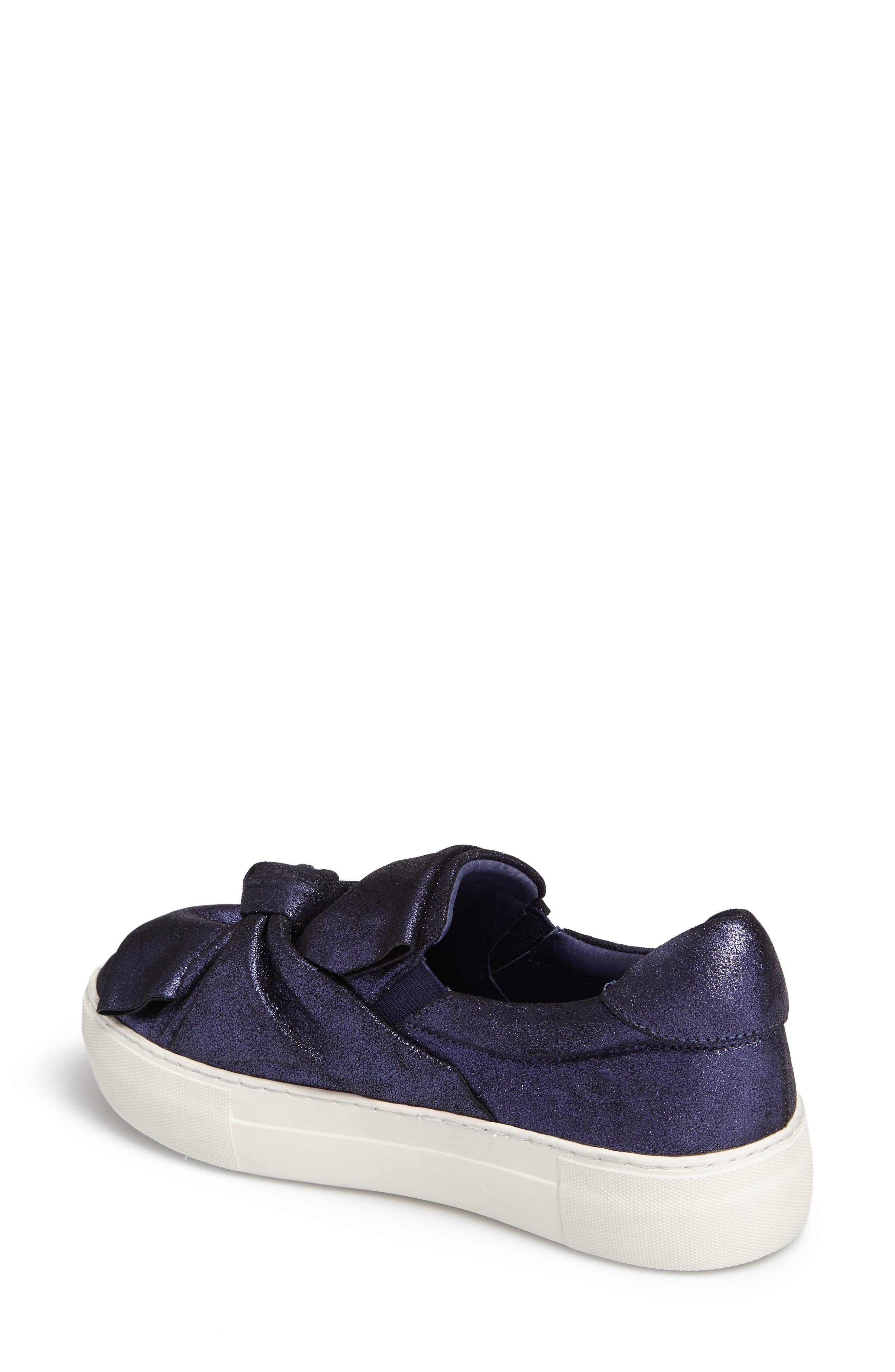 Audra Slip-On Sneaker,                             Alternate thumbnail 2, color,                             Navy Leather
