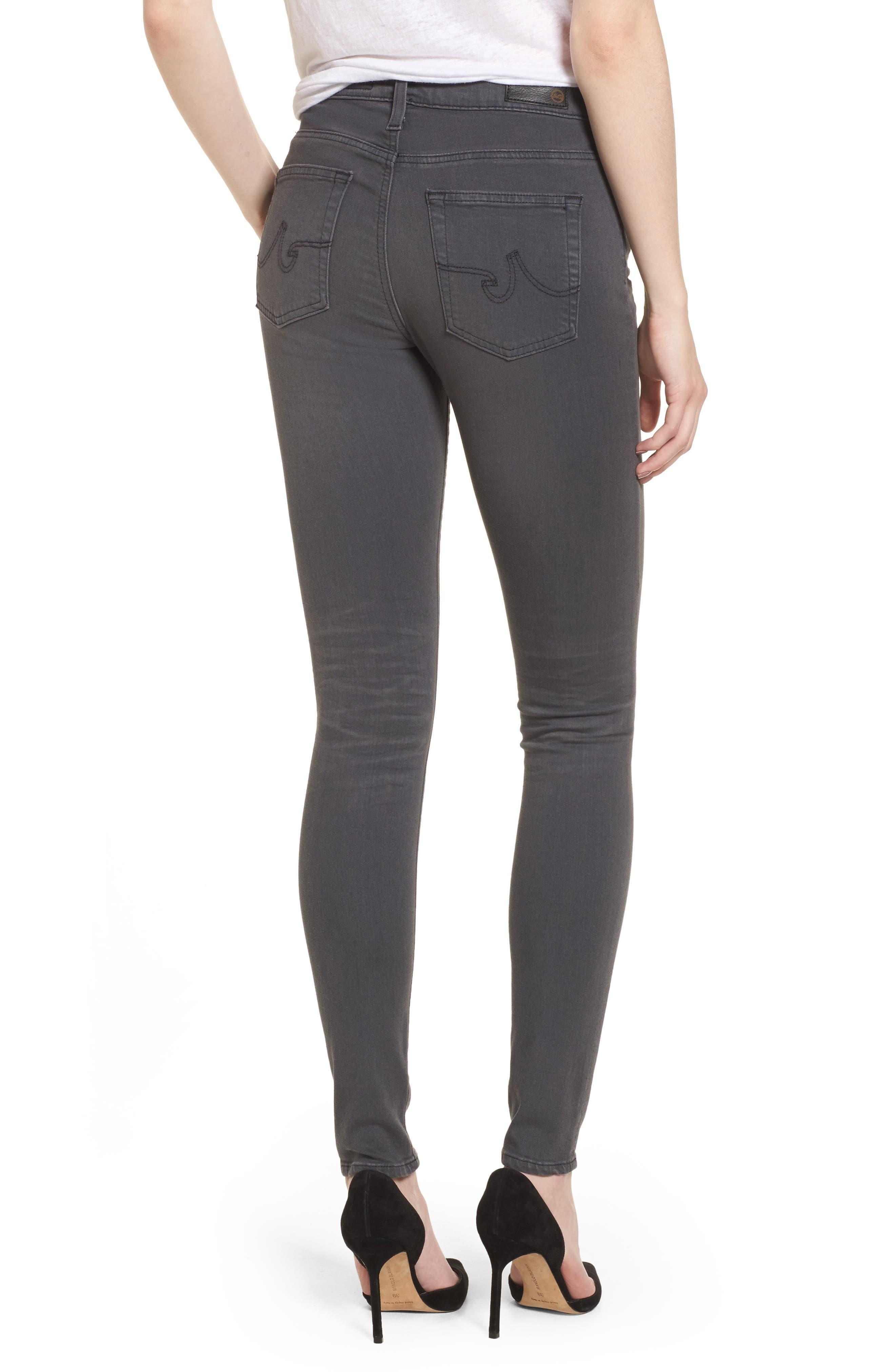 Alternate Image 2  - AG Farrah High WaistSkinny Jeans (4 Years Earl Grey)