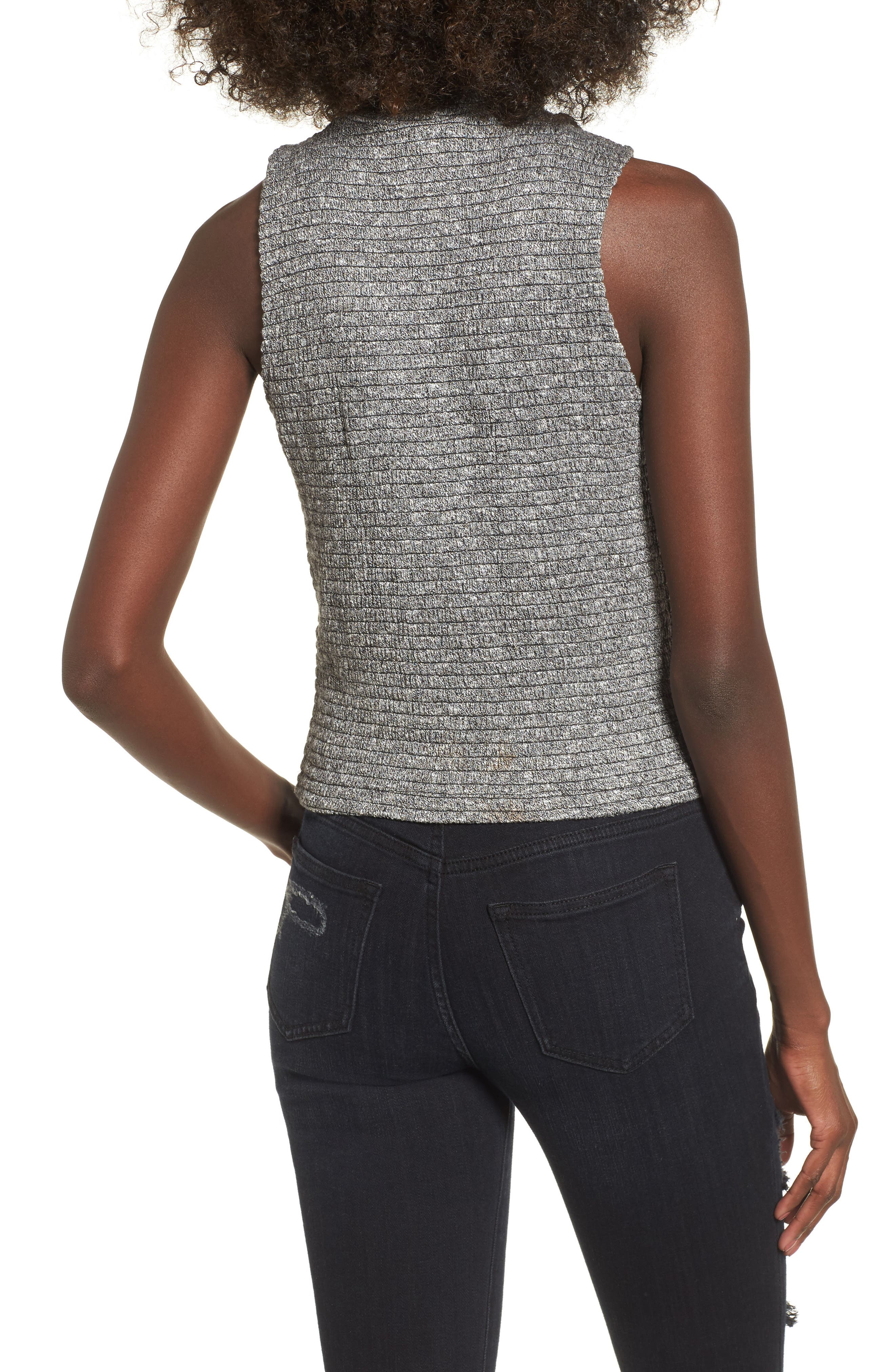 Alternate Image 2  - Love, Fire Smocked Knit Tank Top