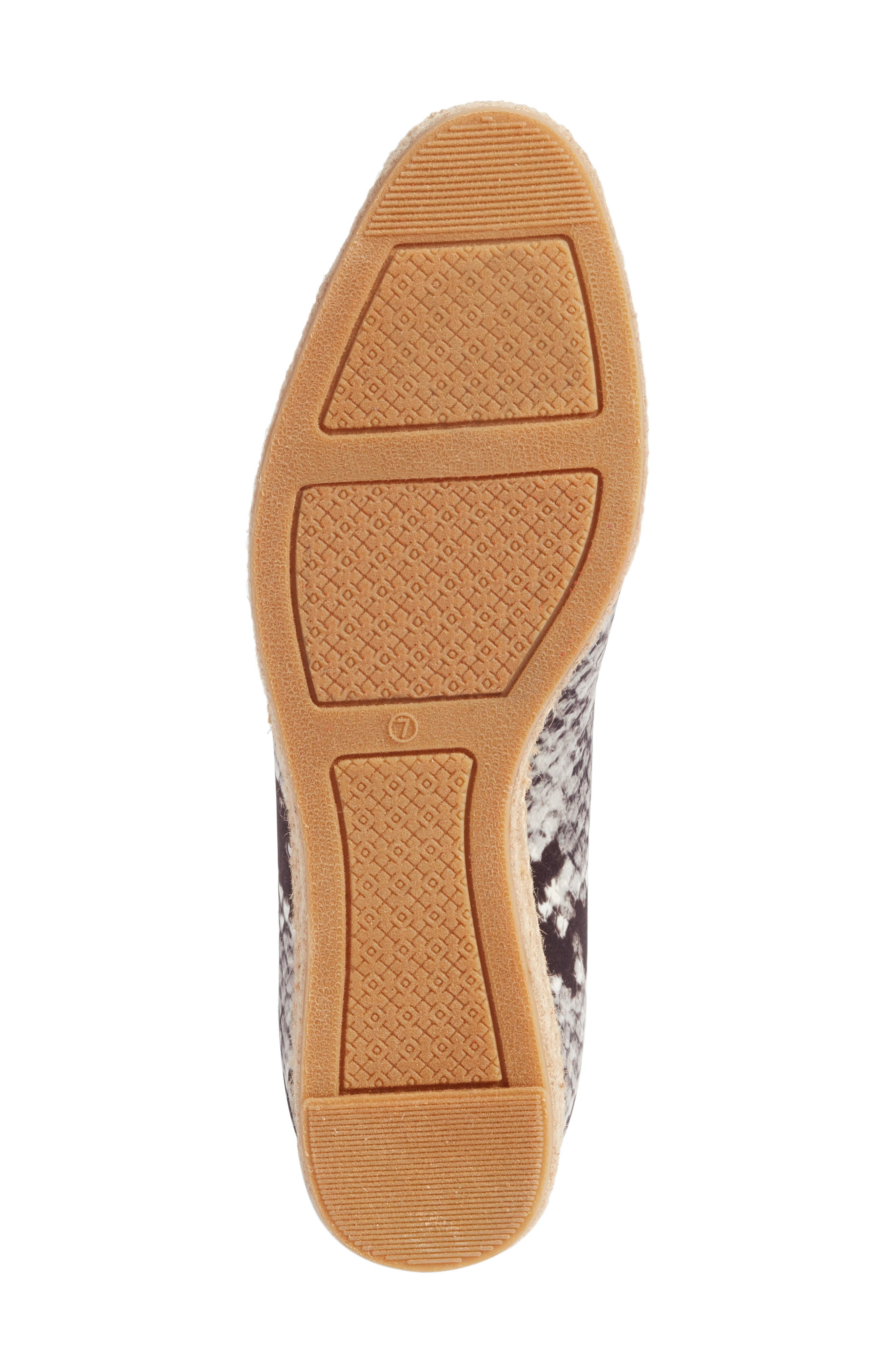 Heather Ankle Wrap Espadrille Wedge,                             Alternate thumbnail 7, color,                             Roccia