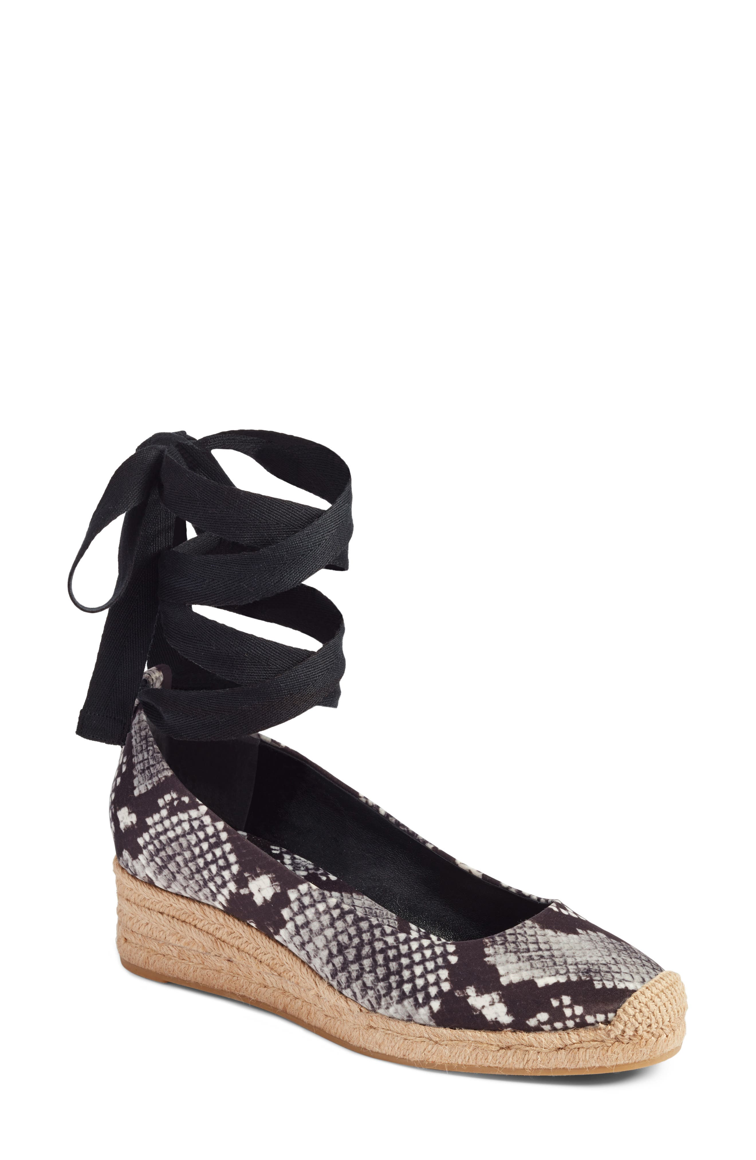 Alternate Image 1 Selected - Tory Burch Heather Ankle Wrap Espadrille Wedge (Women)