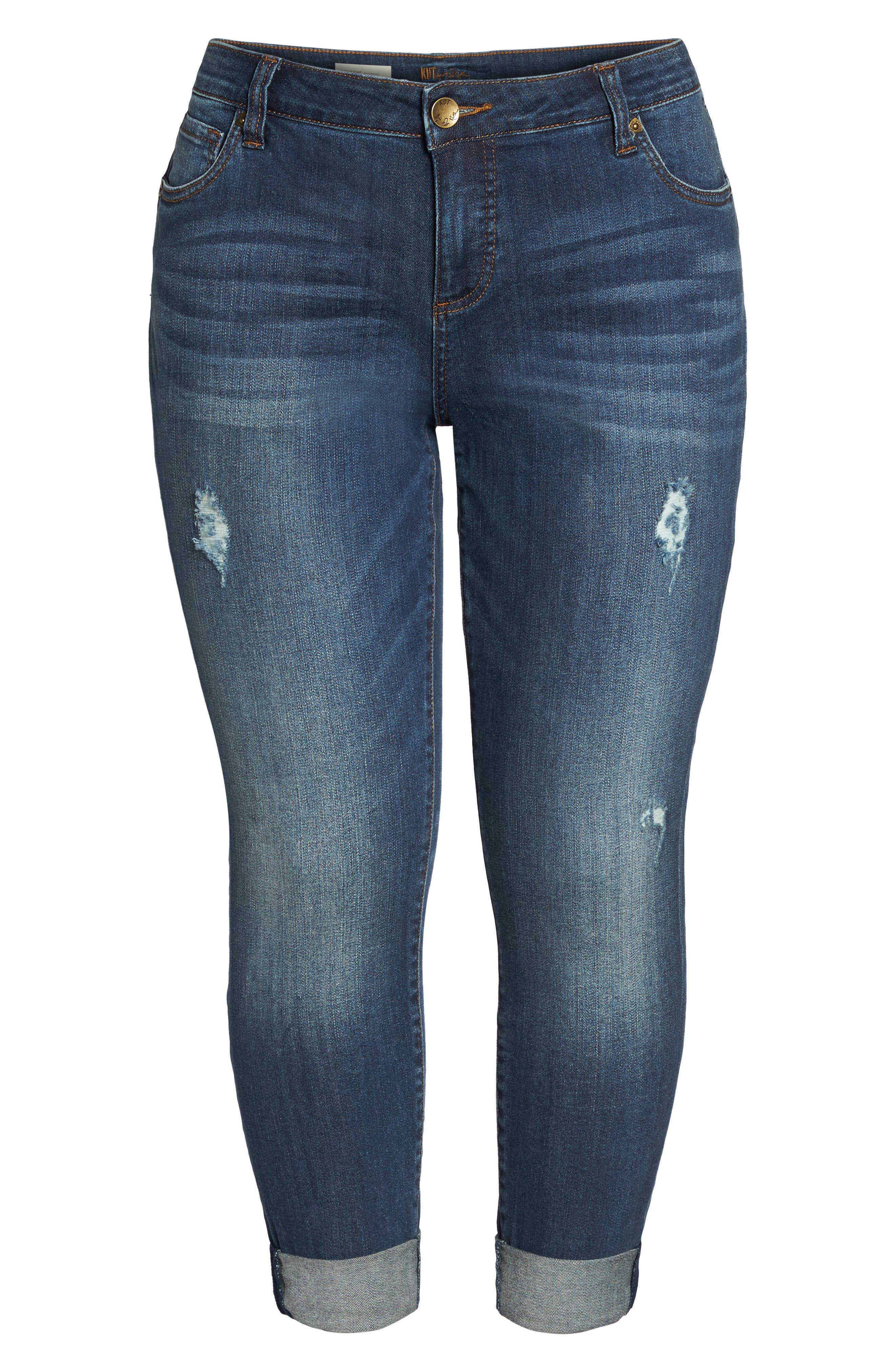 Alternate Image 6  - KUT from the Kloth Catherine Ripped Boyfriend Jeans (Allowing) (Plus Size)