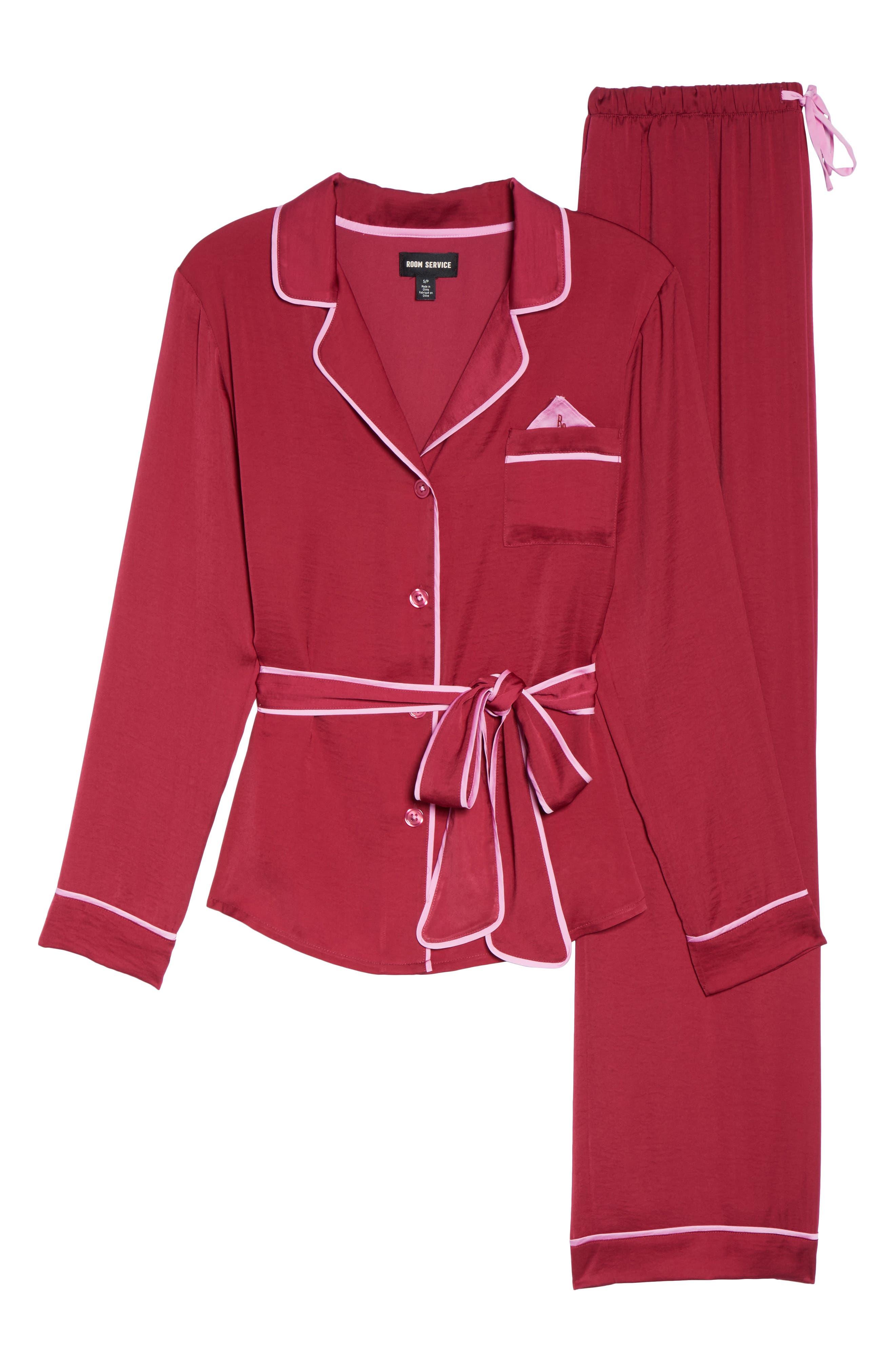 Room Service Belted Satin Pajamas