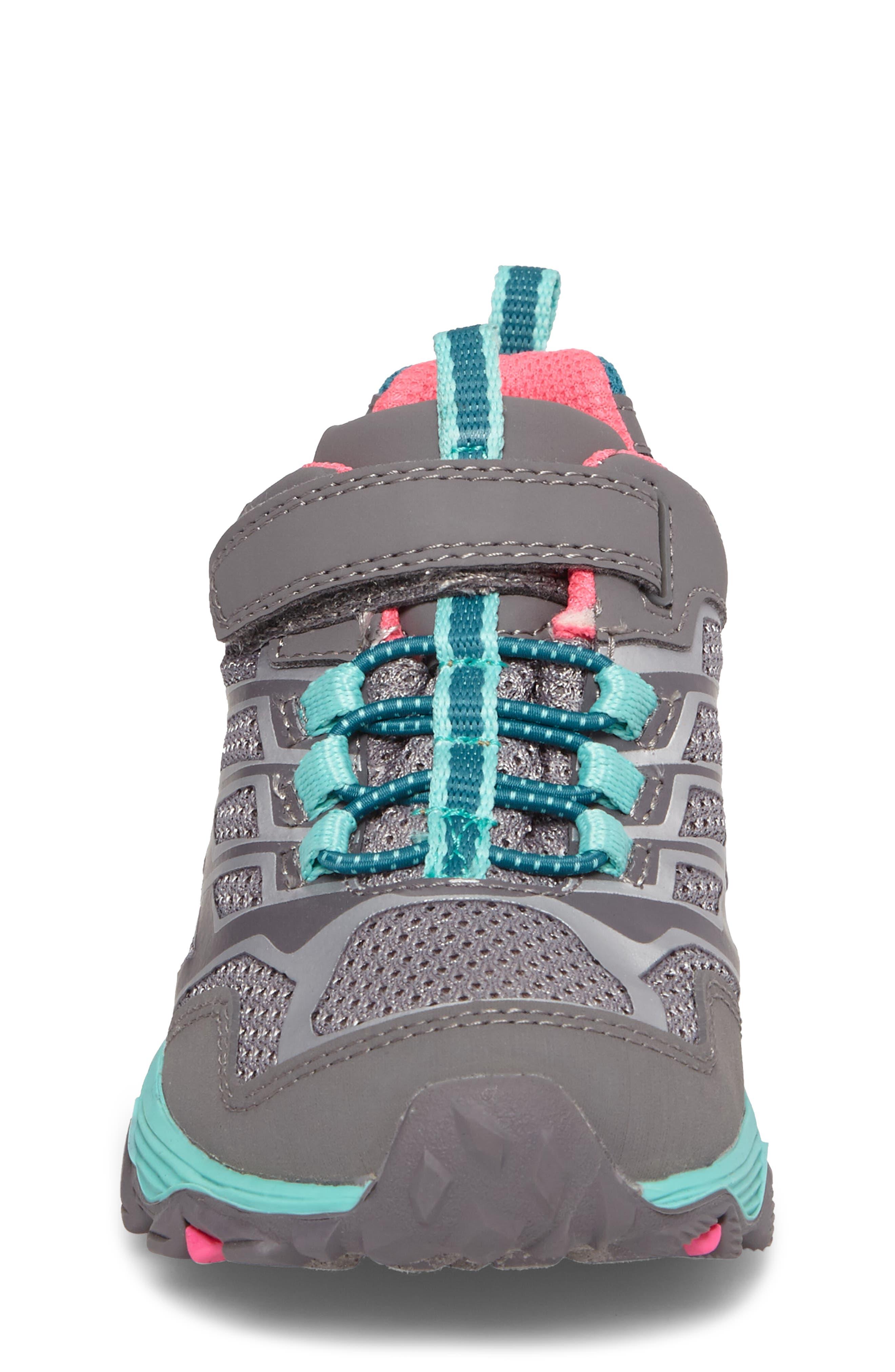 Moab FST Polar Low Waterproof Sneaker,                             Alternate thumbnail 4, color,                             Grey/ Multi