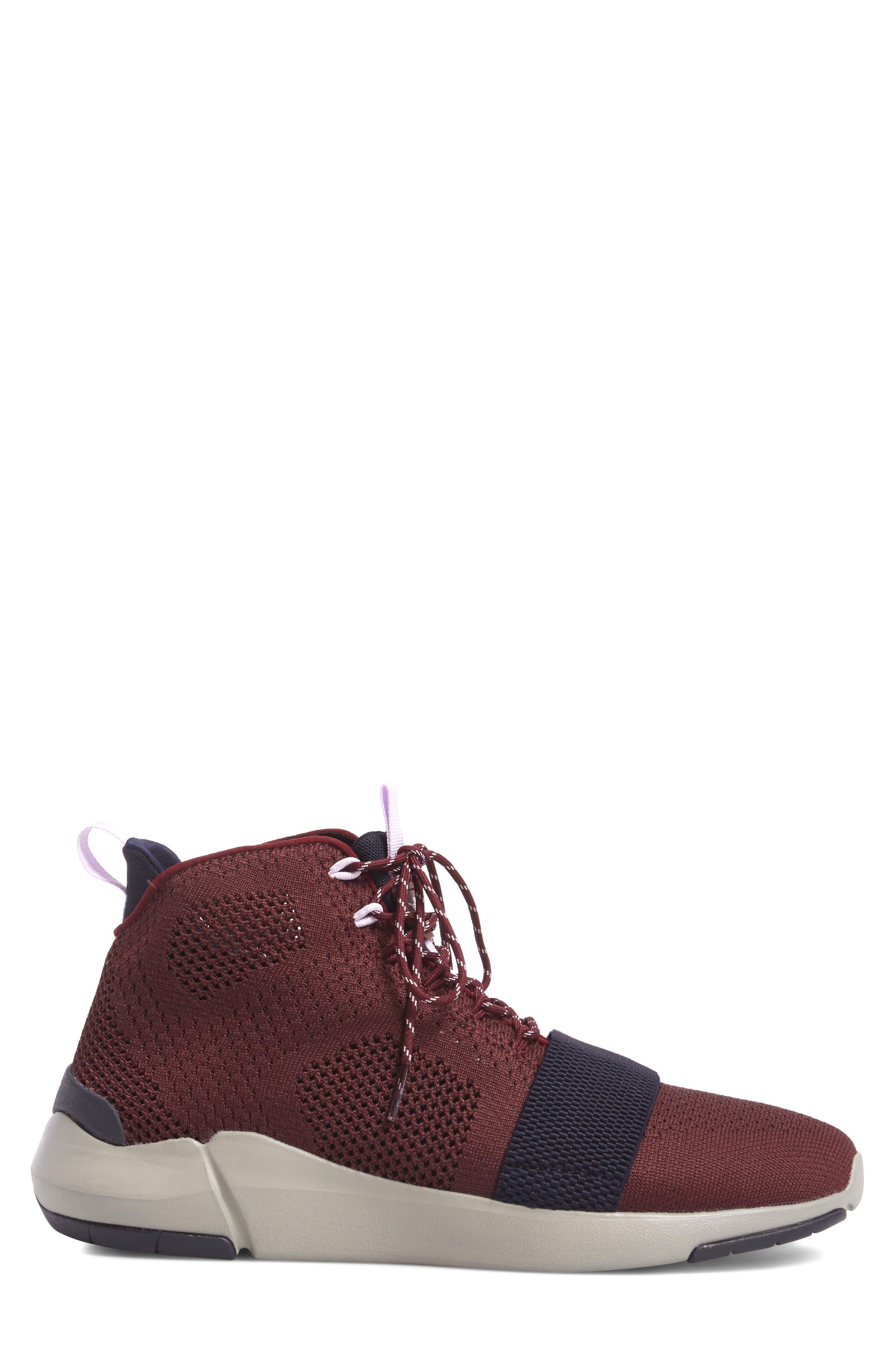 Modica Sneaker,                             Alternate thumbnail 3, color,                             Dark Burgundy Navy