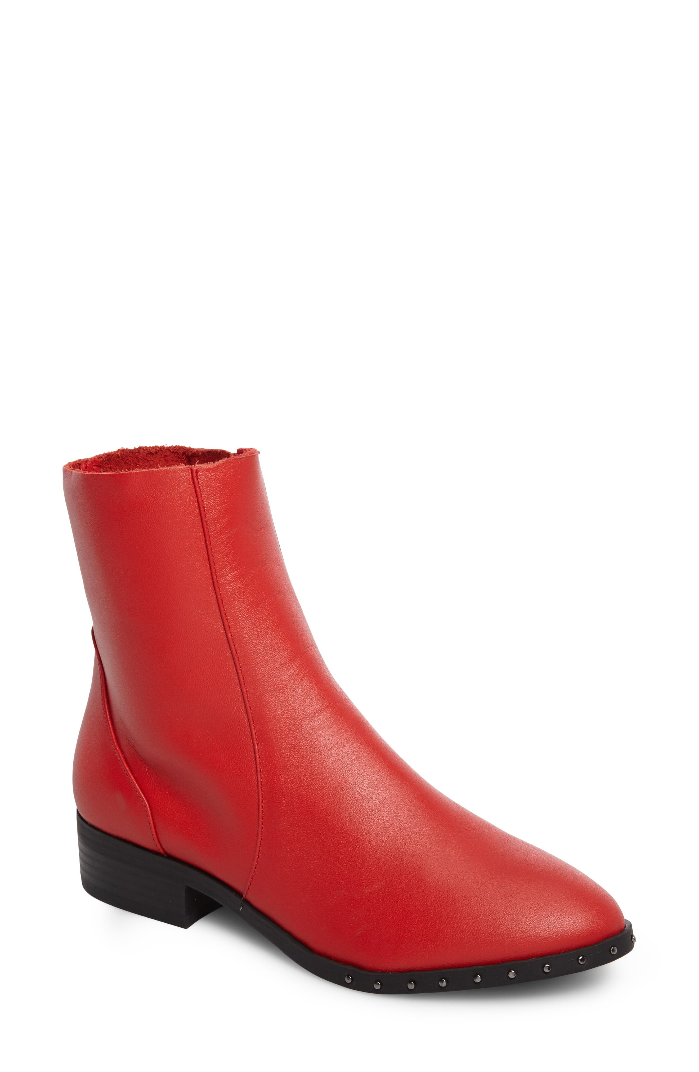 Kash Sock Boot,                         Main,                         color, Red
