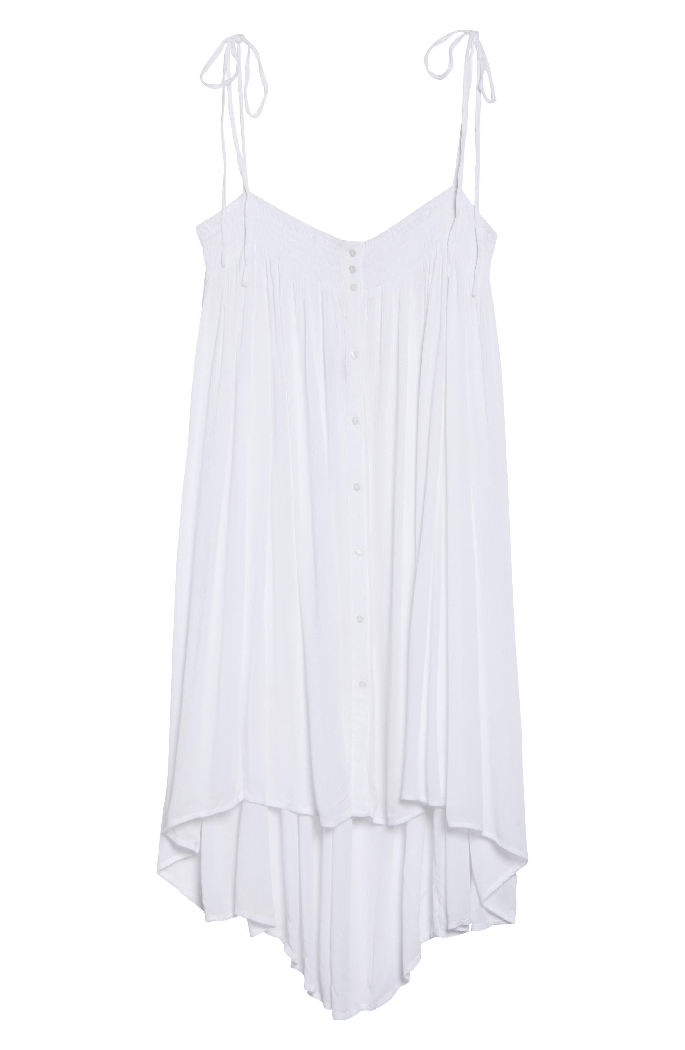 Oliva Cover-Up Dress,                             Alternate thumbnail 6, color,                             White