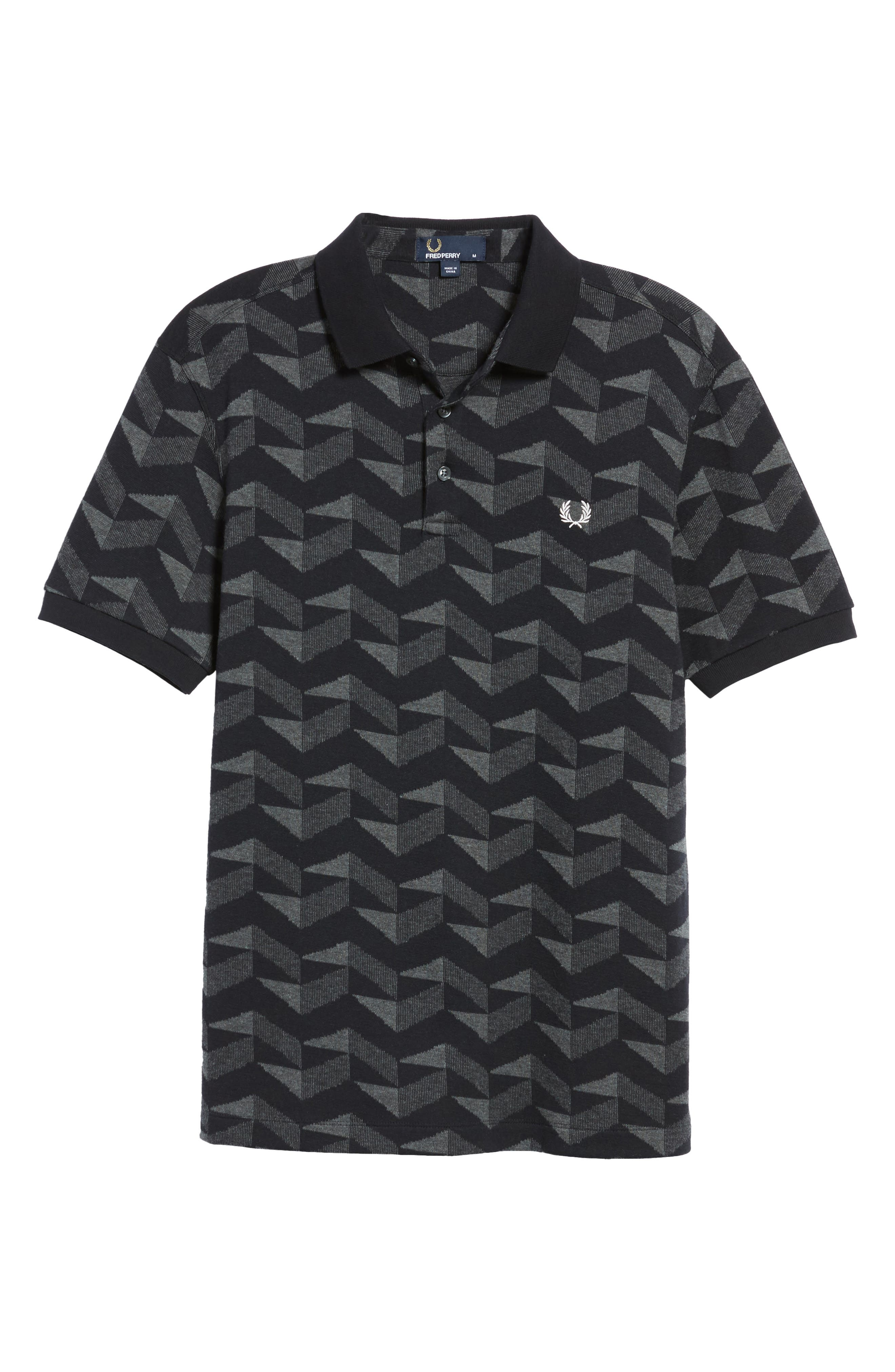 Alternate Image 6  - Fred Perry Jacquard Piqué Polo