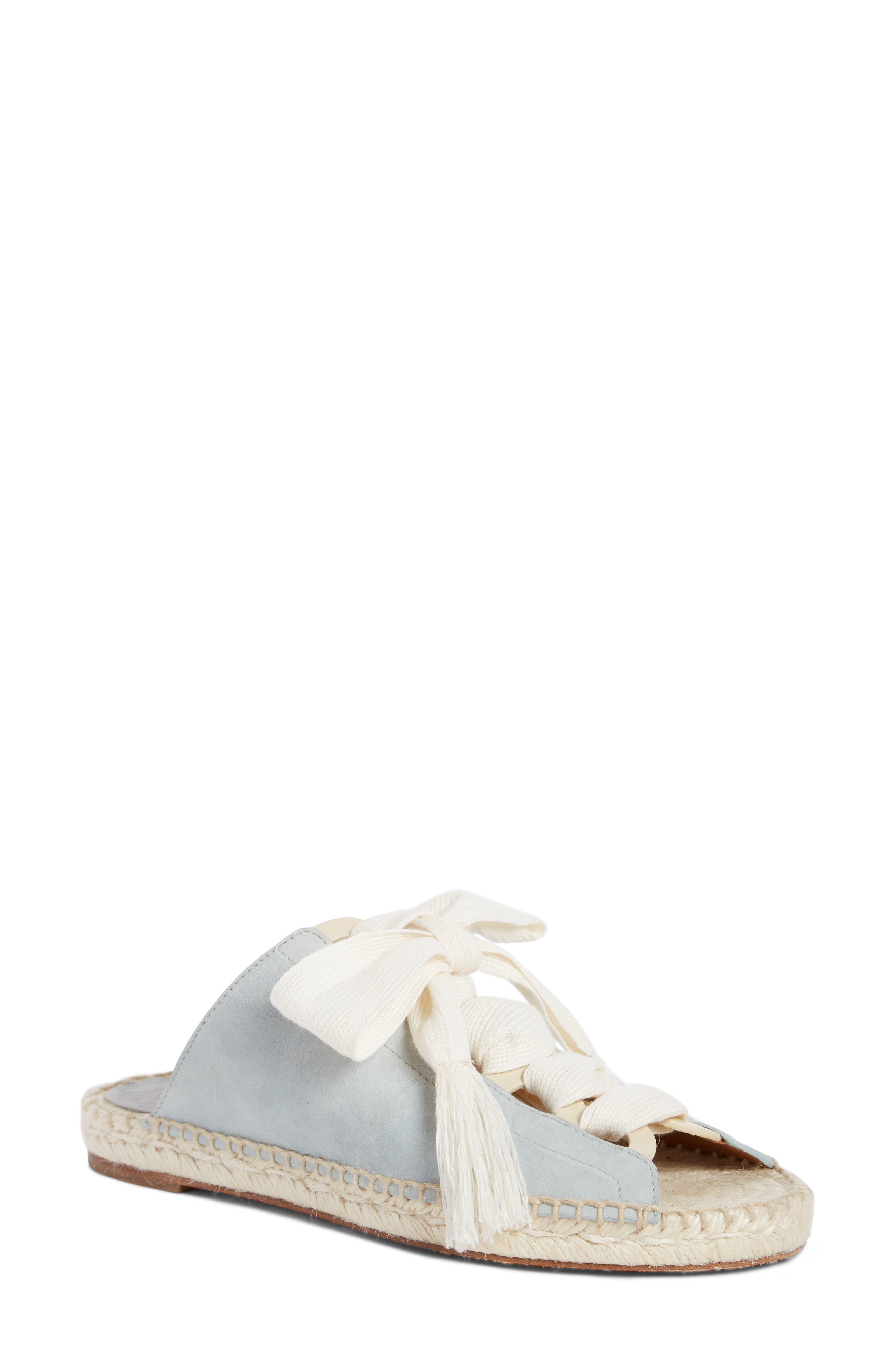 Harper Lace-Up Espadrille Slide Sandal,                         Main,                         color, Aether Blue