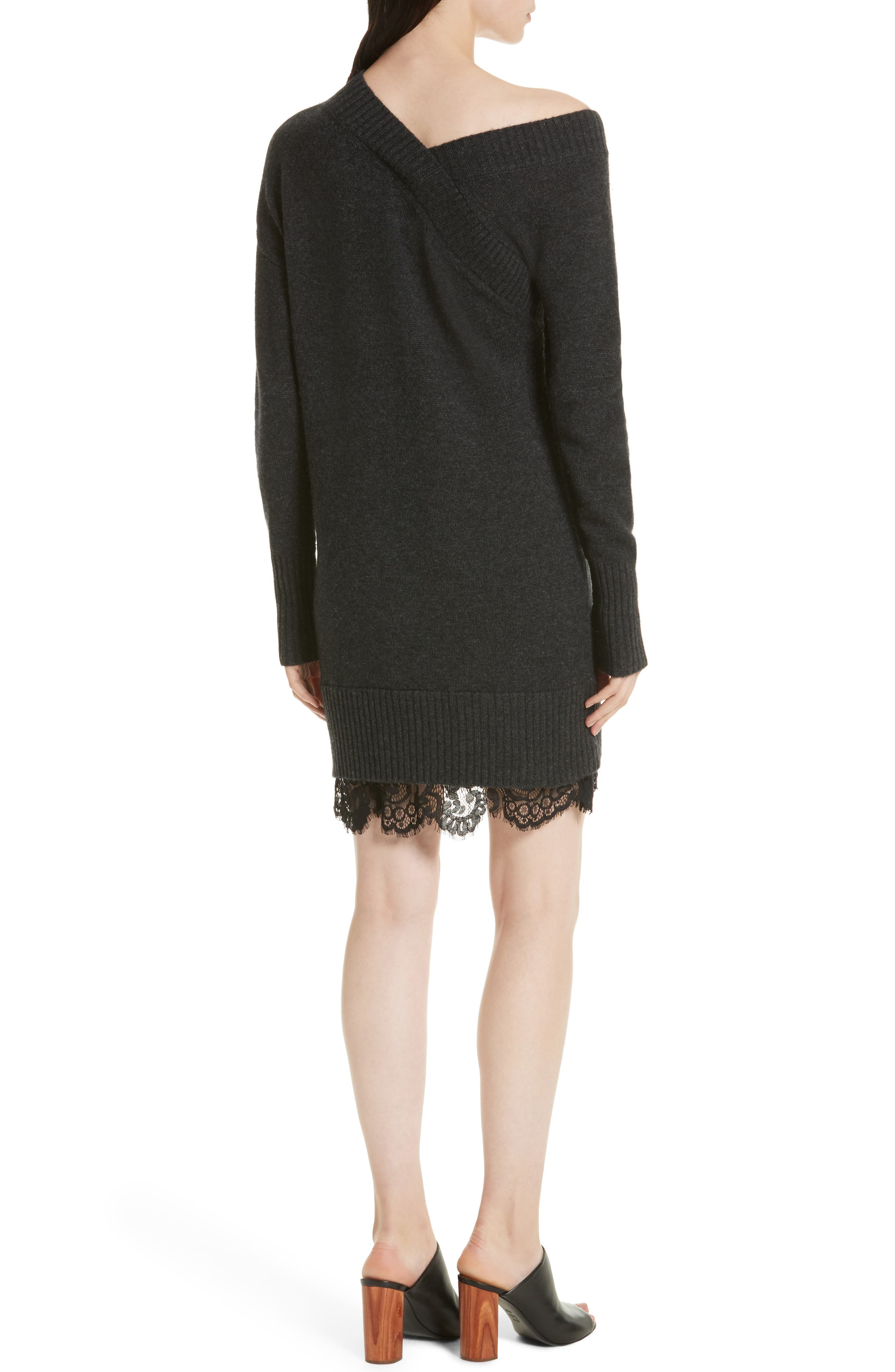 Alternate Image 2  - Brochu Walker One-Shoulder Sweater Dress