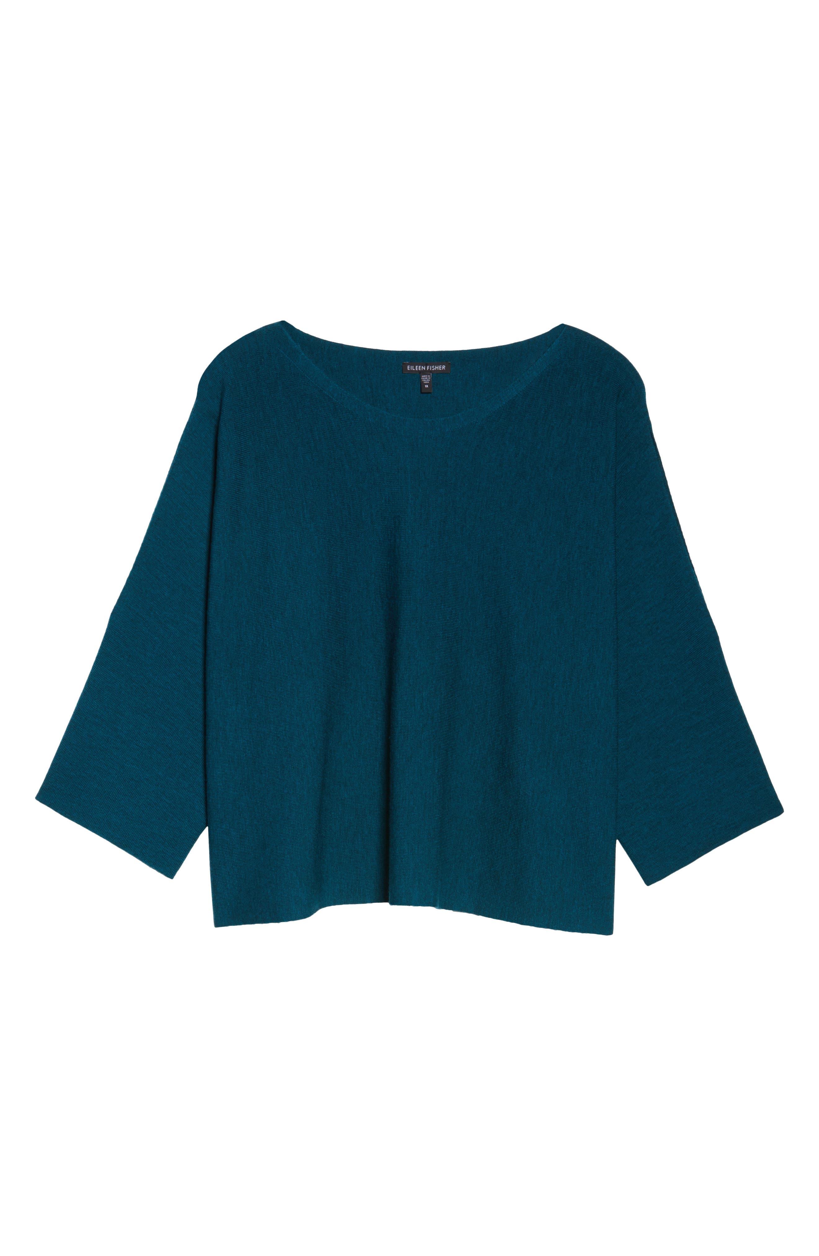 Alternate Image 6  - Eileen Fisher Crop Merino Wool Sweater (Plus Size)