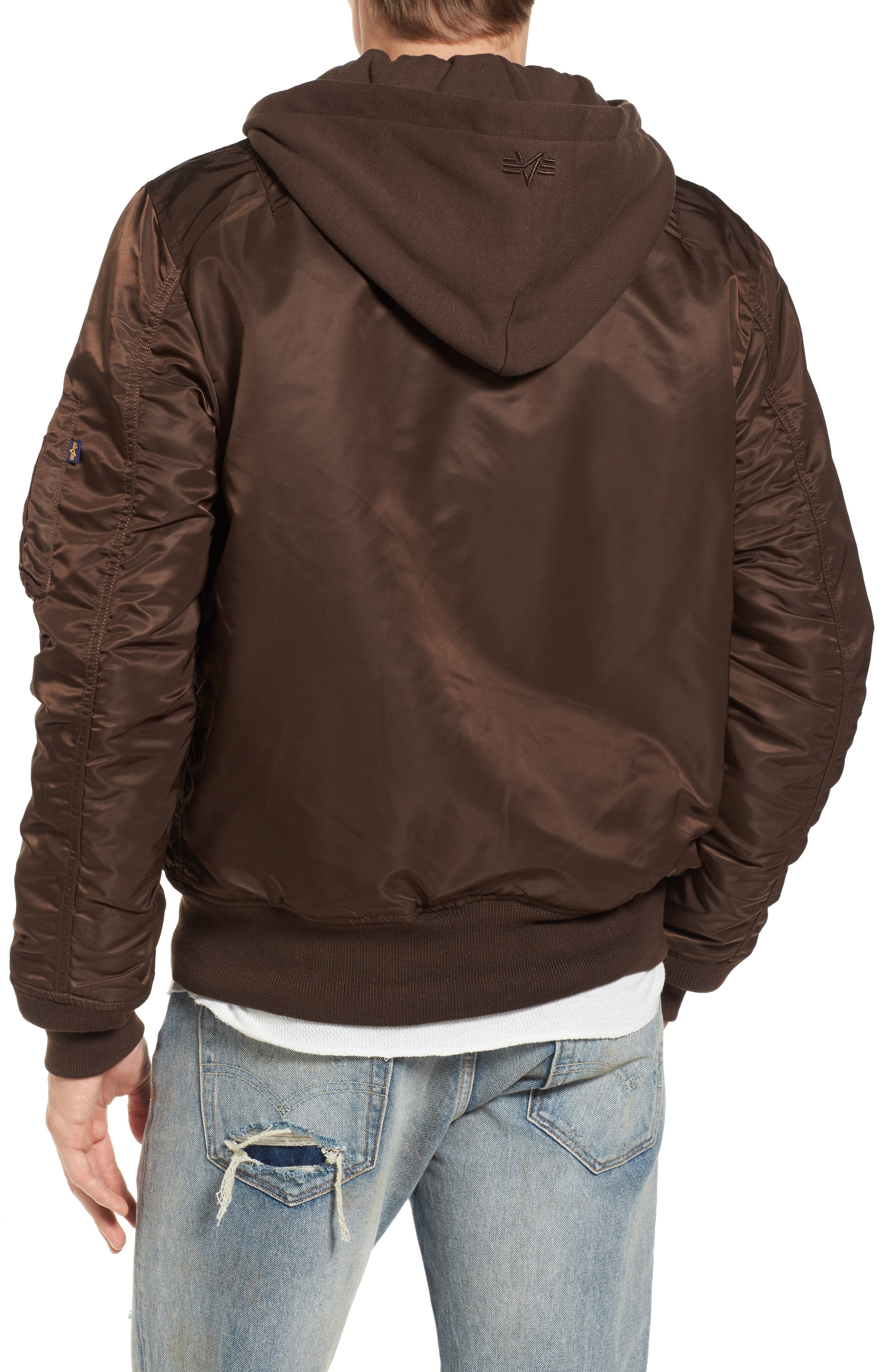 Alternate Image 2  - Alpha Industries MA-1 Natus Hooded Bomber Jacket