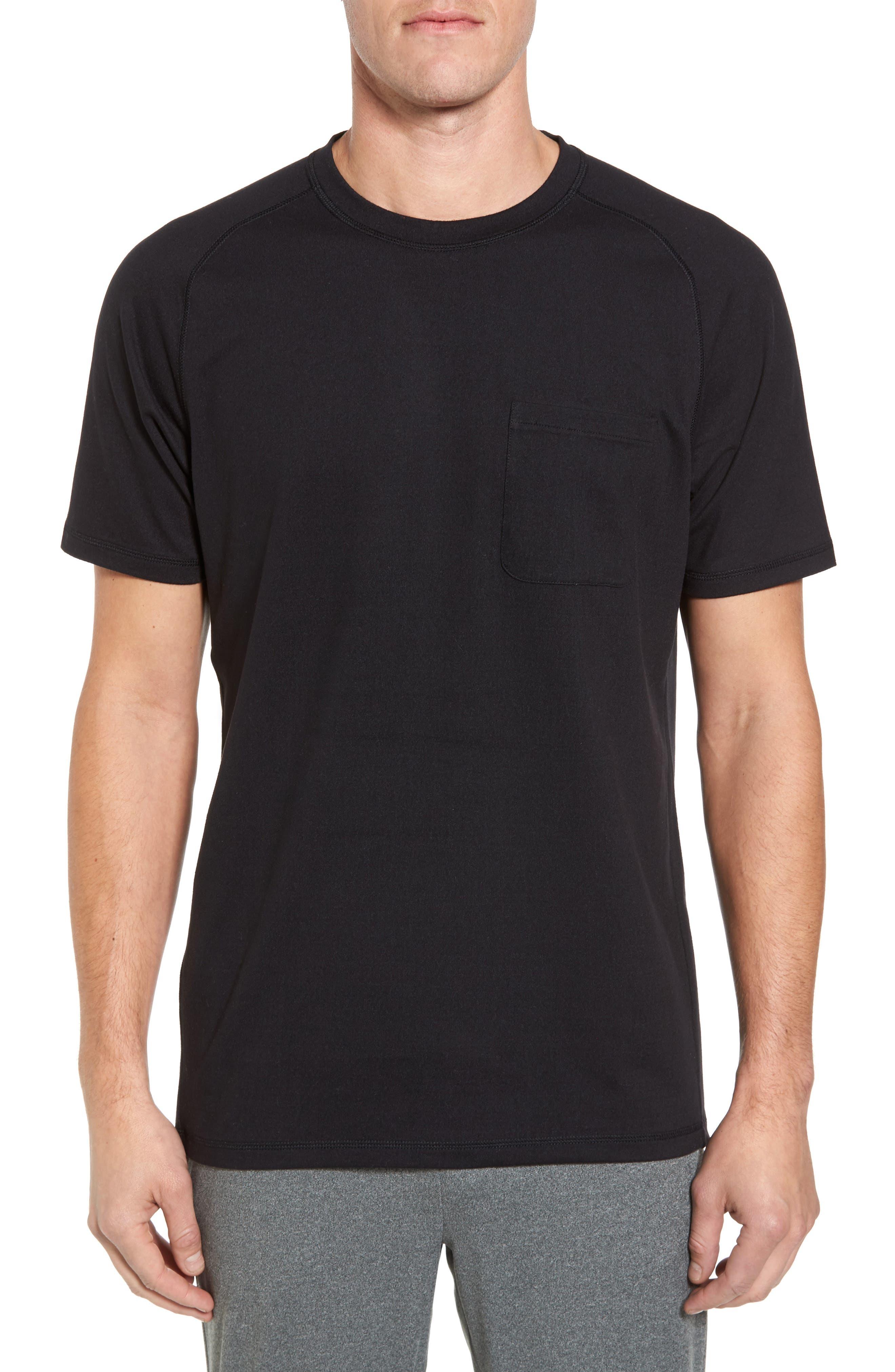 Longline Crewneck T-Shirt,                         Main,                         color, Black