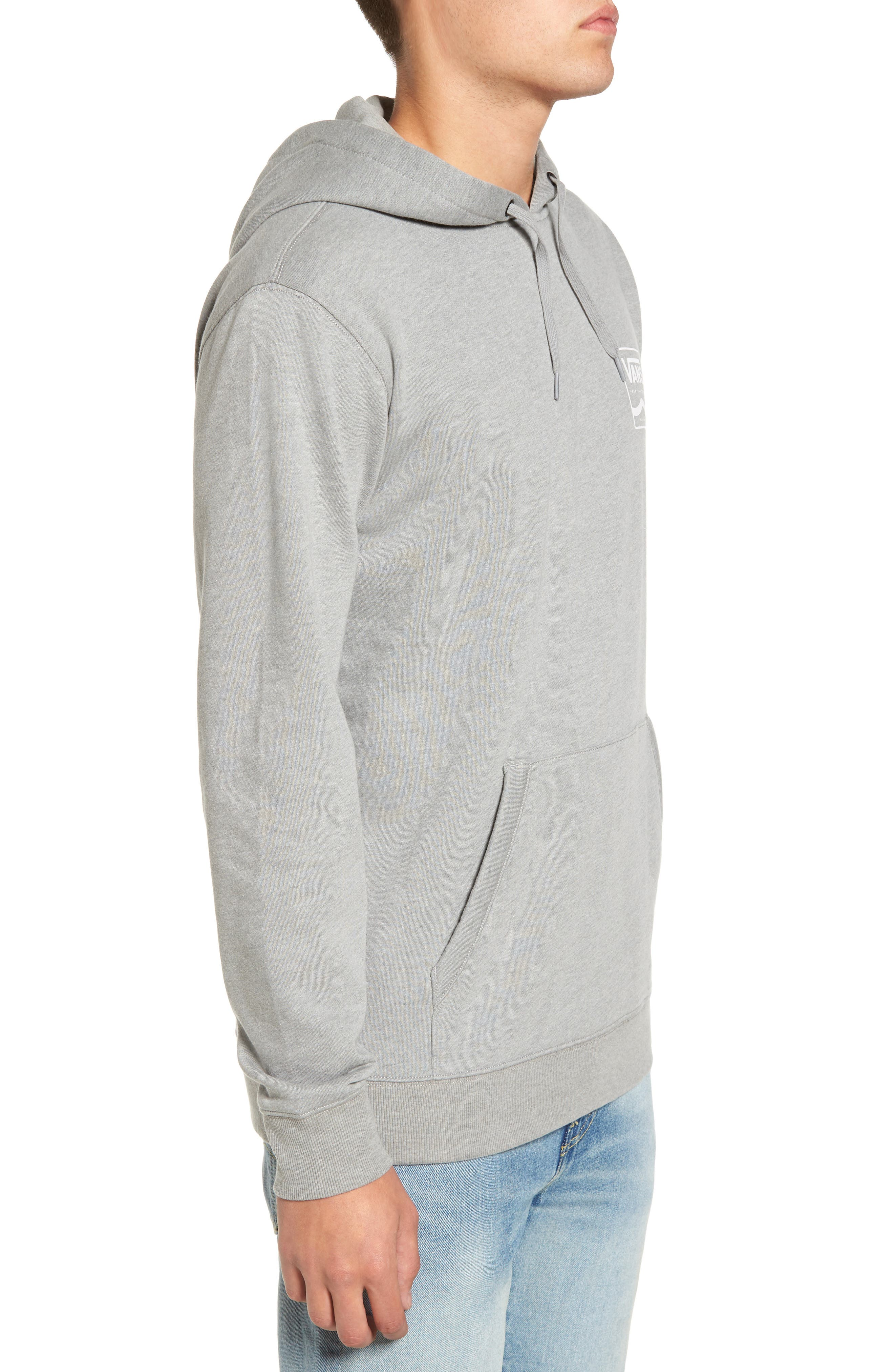 Side Striped II Hoodie,                             Alternate thumbnail 3, color,                             Cement Heather