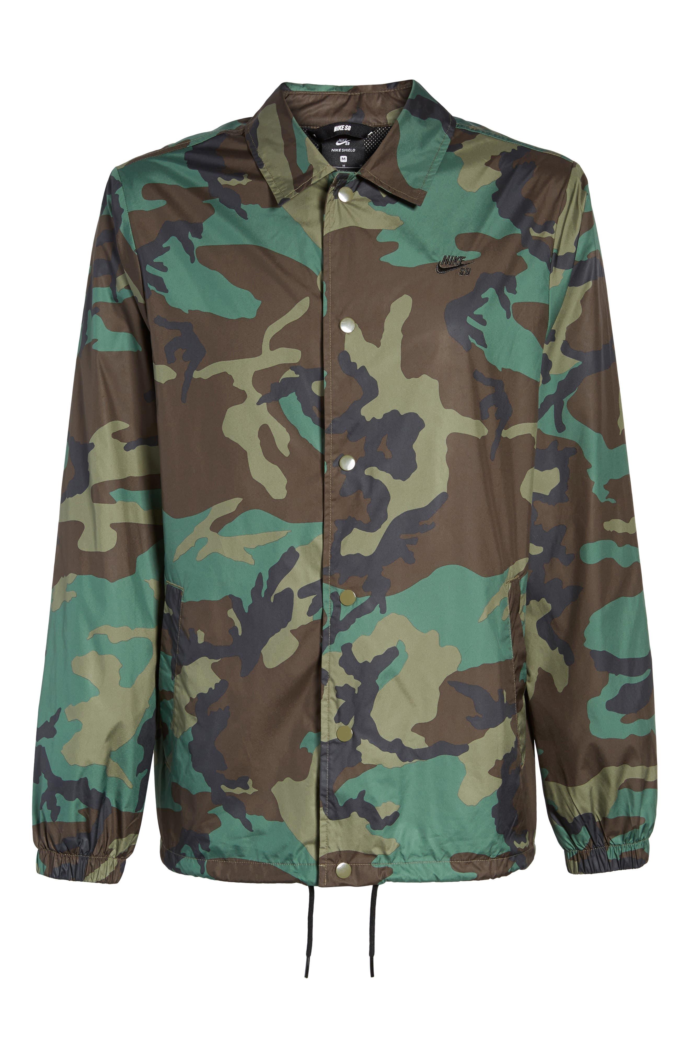 Shield Coach's Jacket,                             Alternate thumbnail 6, color,                             Medium Olive/ Black