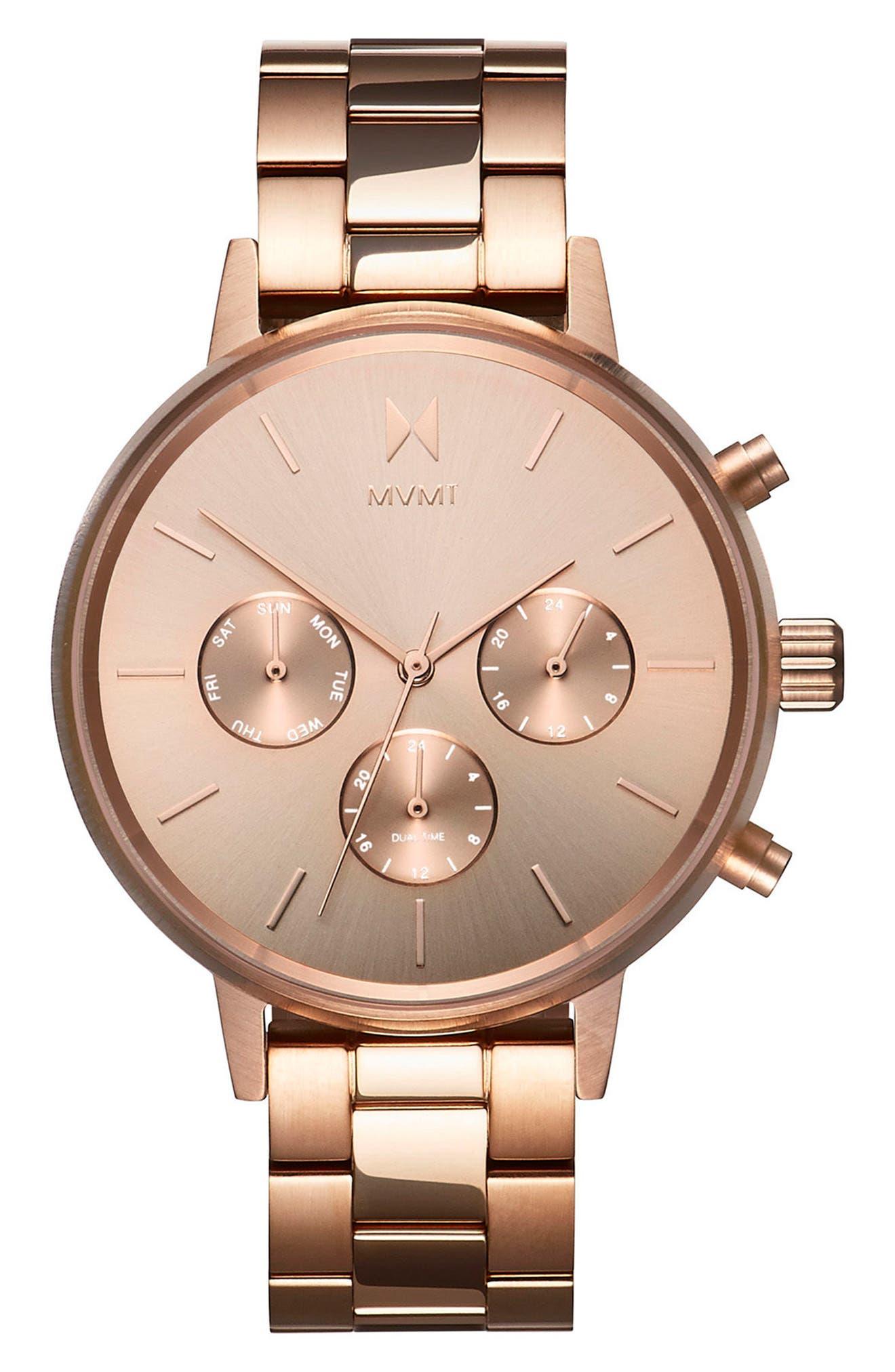 Nova Chronograph Bracelet Watch, 38mm,                         Main,                         color, Rose Gold