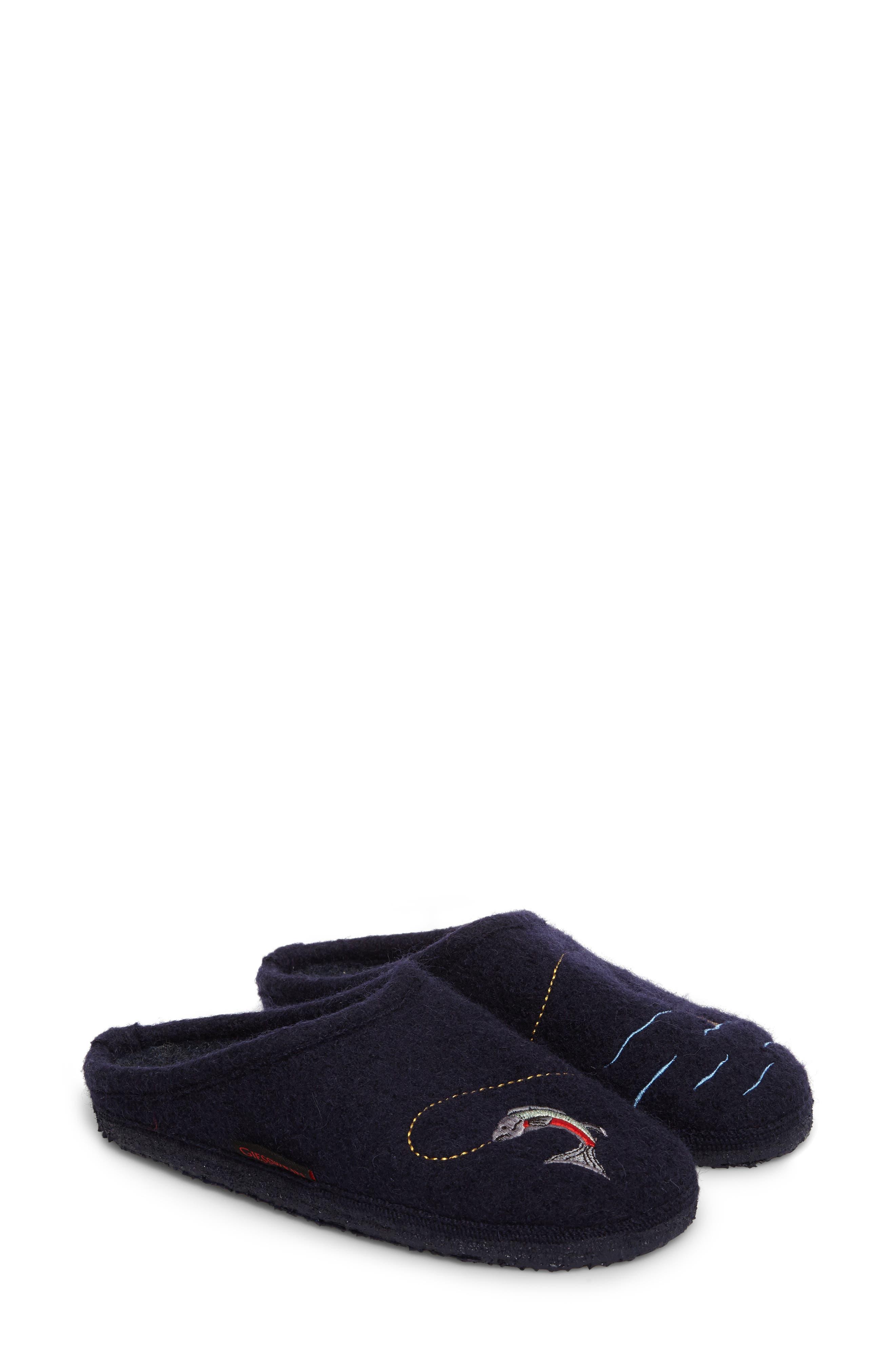 Riffle Wool Slipper,                         Main,                         color, Ocean Wool