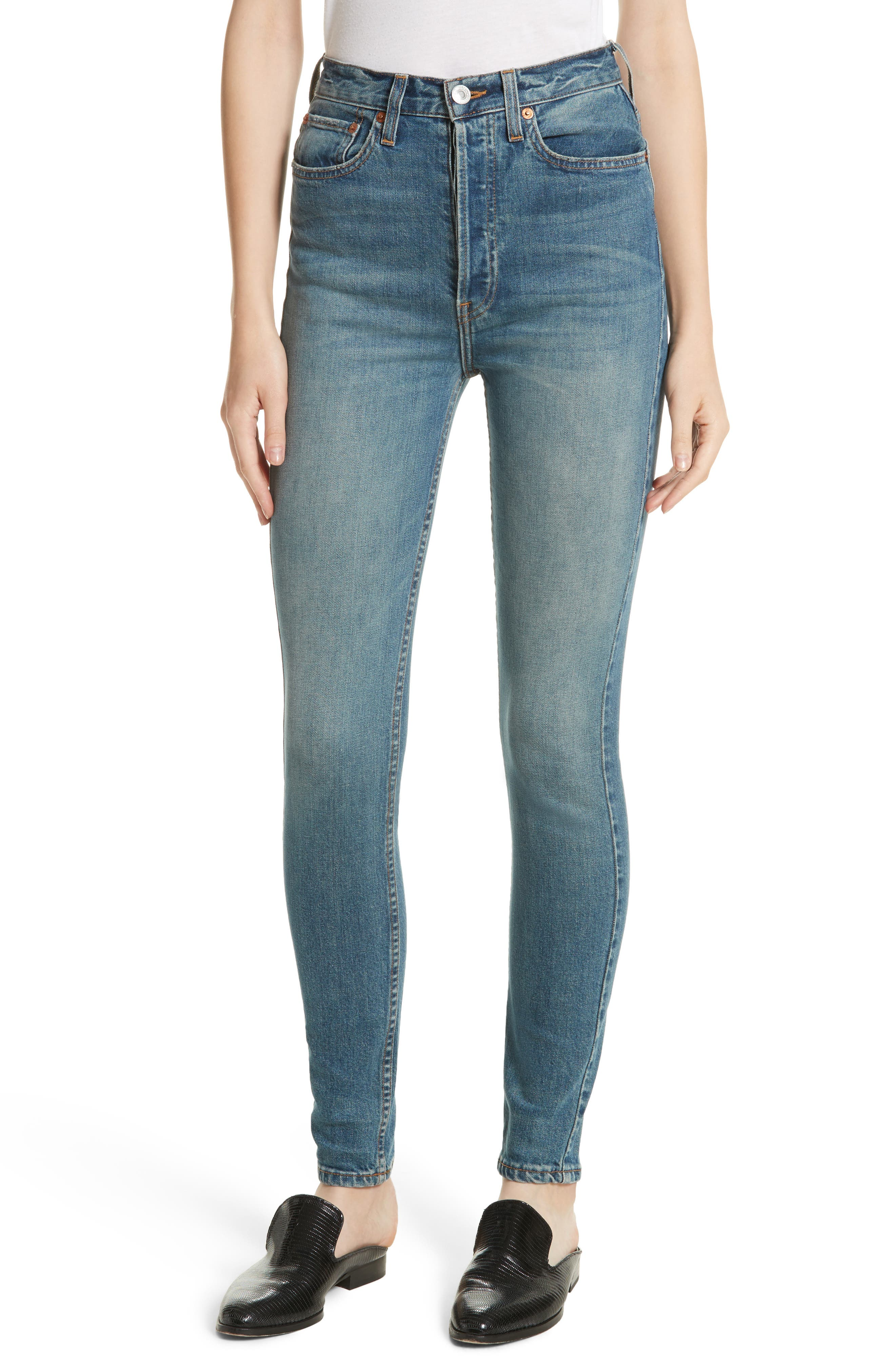 Alternate Image 1 Selected - Re/Done Originals Ultra High Waist Skinny Jeans