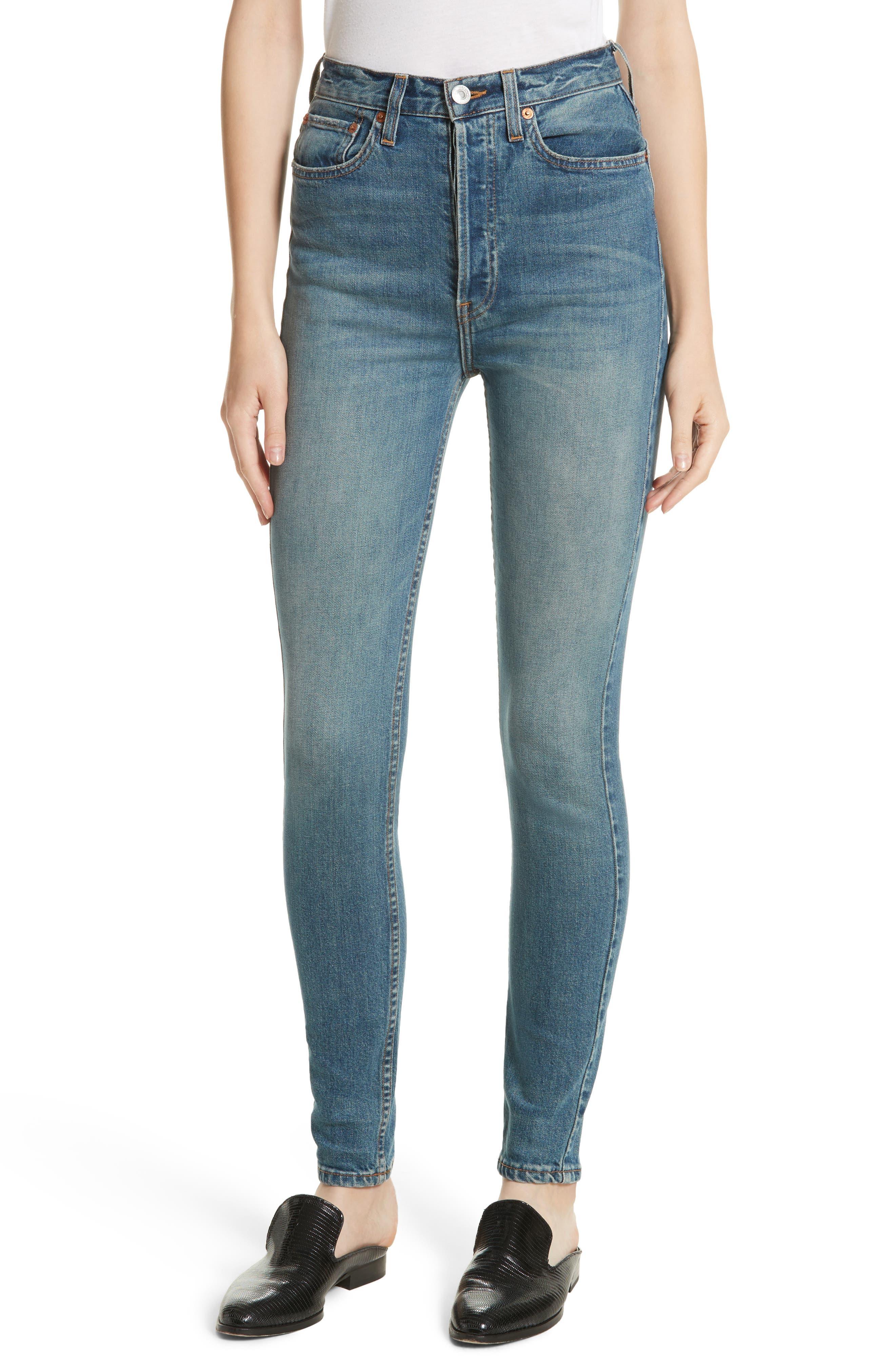Originals Ultra High Waist Skinny Jeans,                         Main,                         color, Medium Dusty