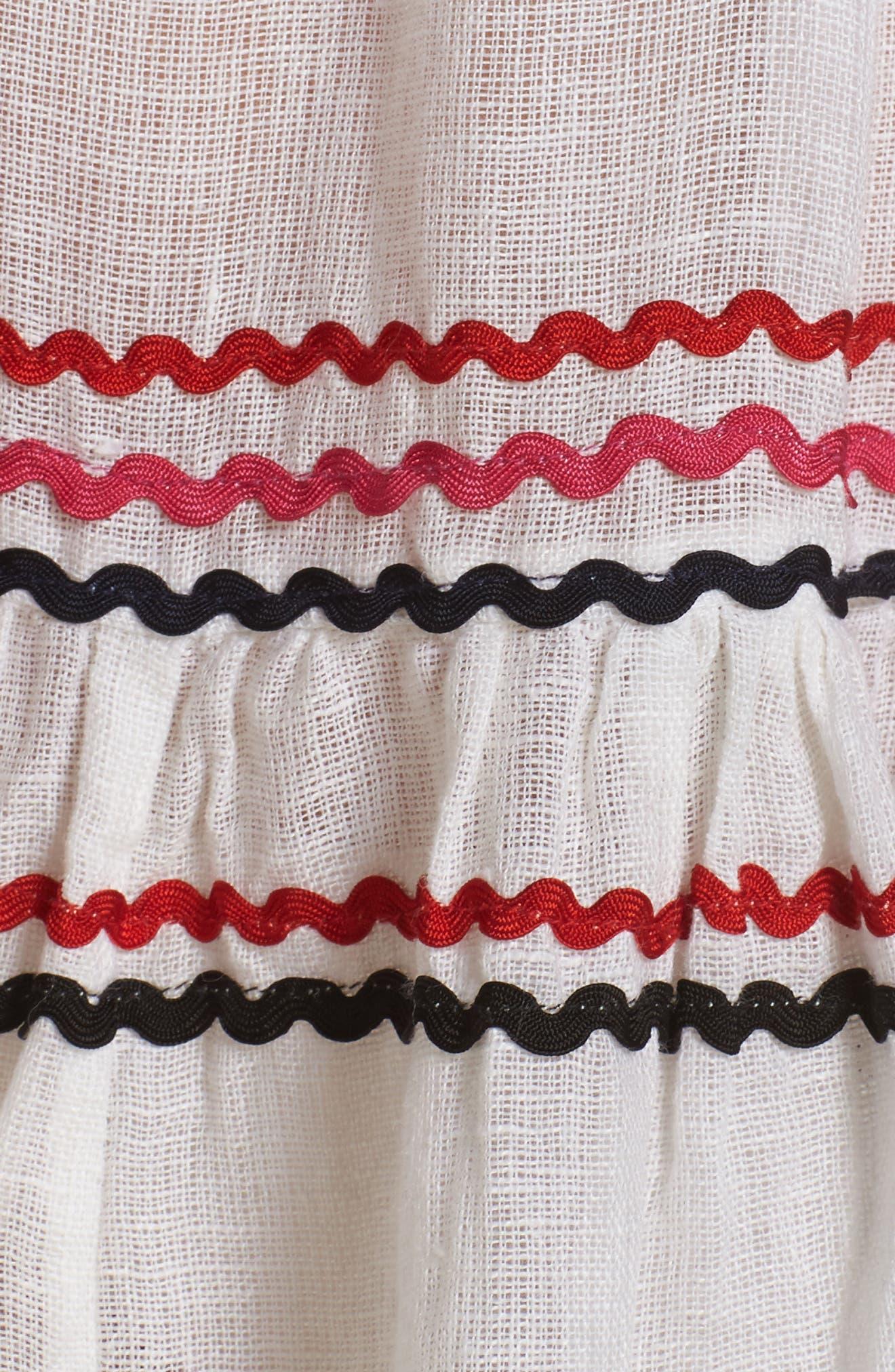 Mira Cover-Up Dress,                             Alternate thumbnail 5, color,                             Multi White