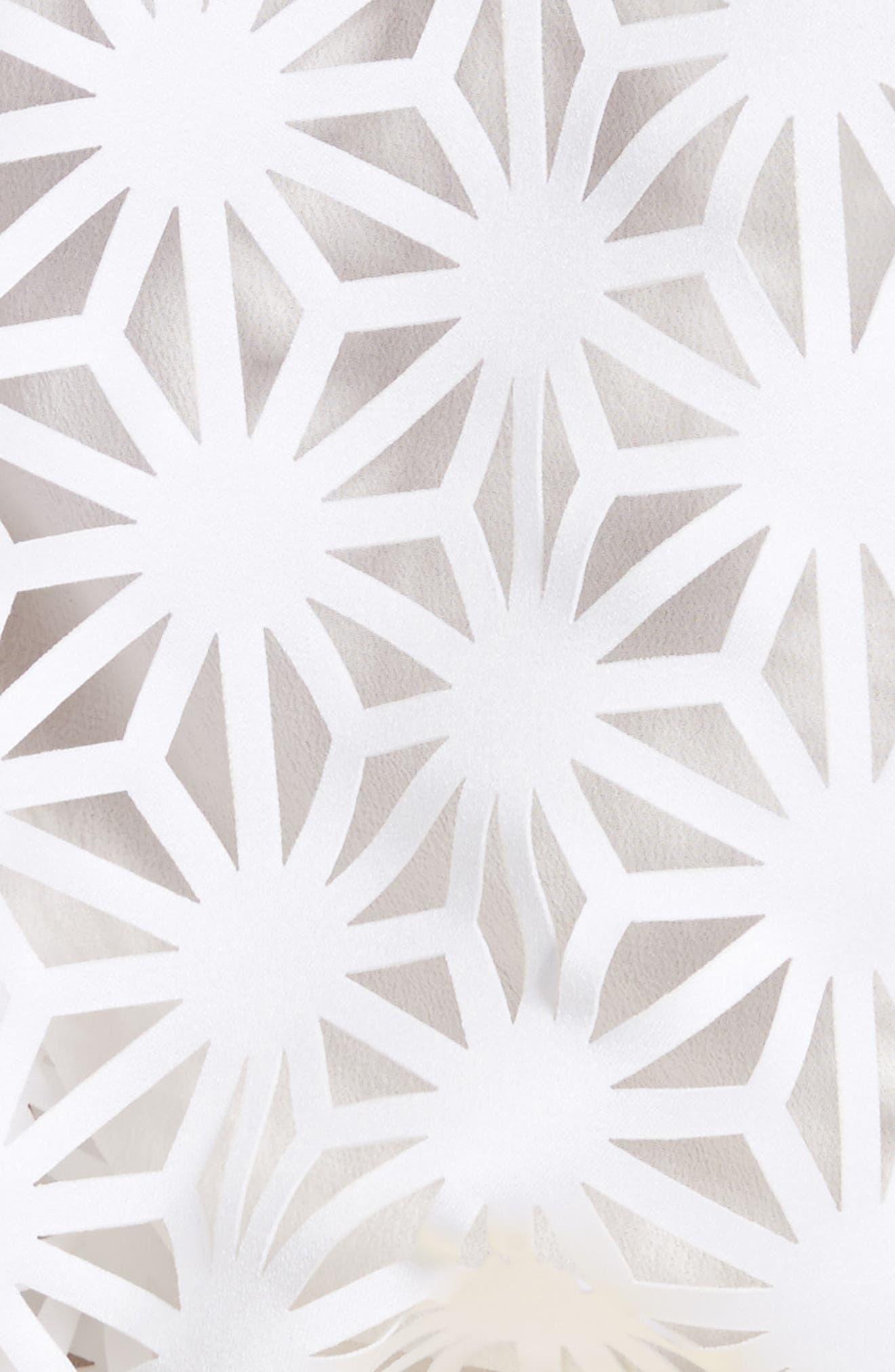 Basic Laser Cut Top,                             Alternate thumbnail 5, color,                             White