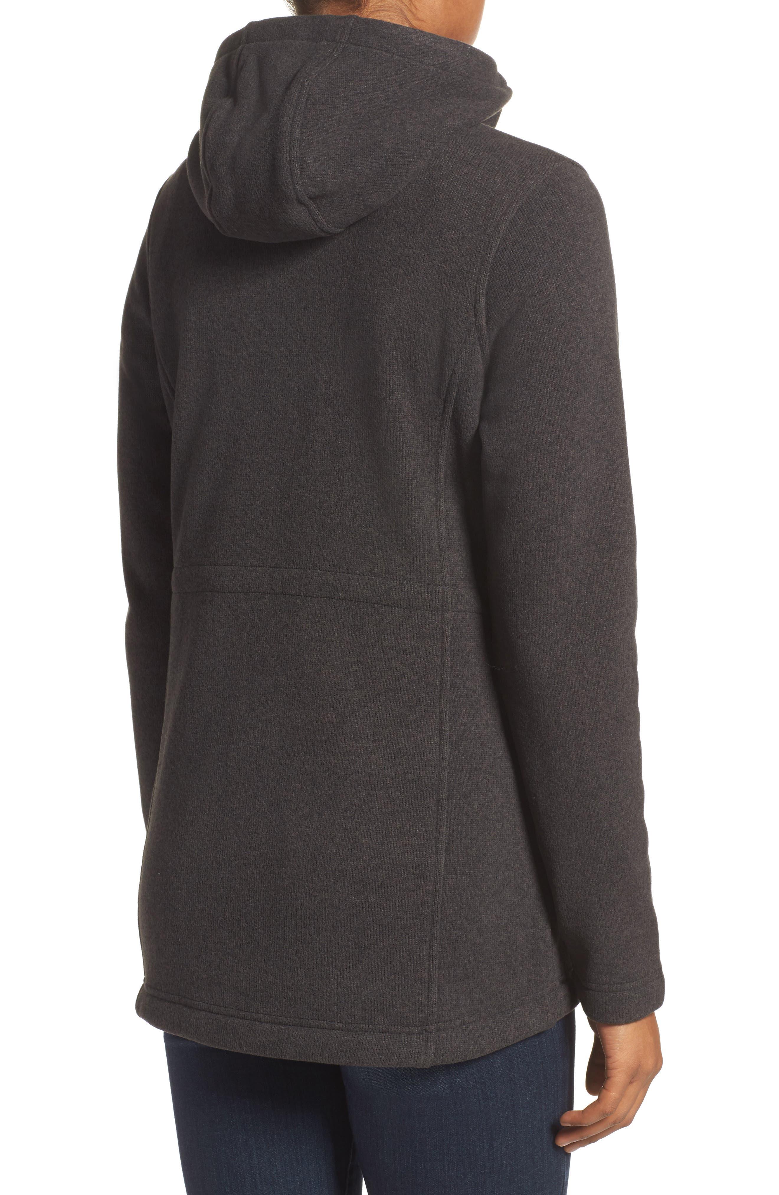 Crescent Parka Fleece,                             Alternate thumbnail 2, color,                             Tnf Black Heather
