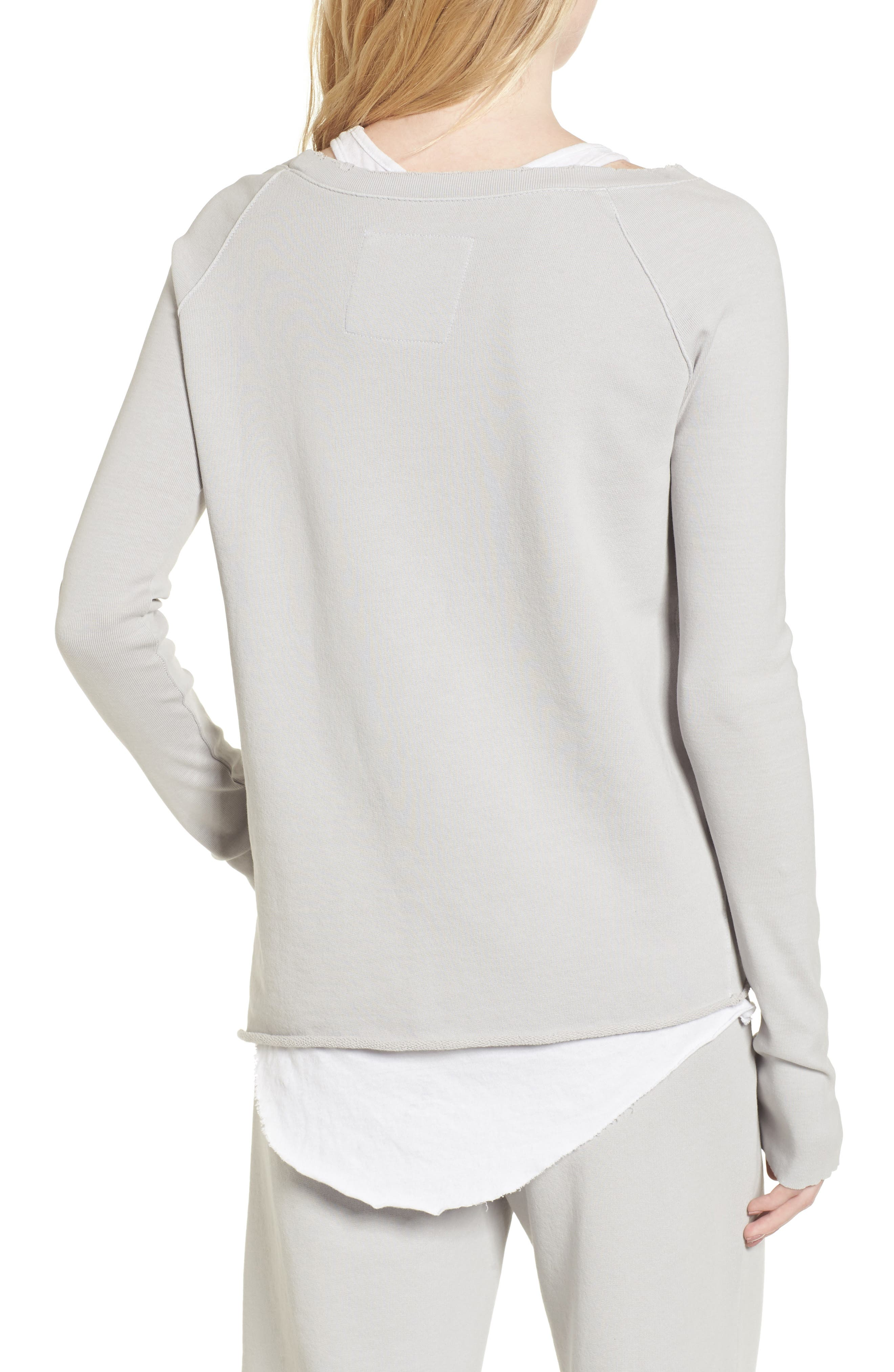 Asymmetric Sweatshirt,                             Alternate thumbnail 2, color,                             Grey Area