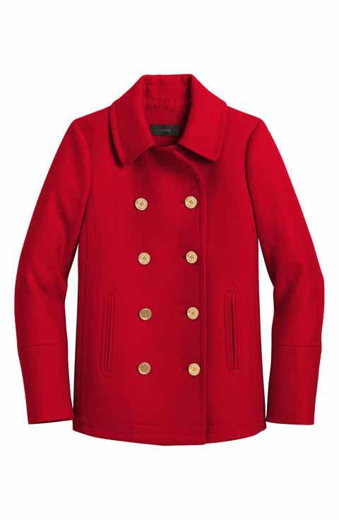 Women's Red Peacoat Coats & Jackets   Nordstrom