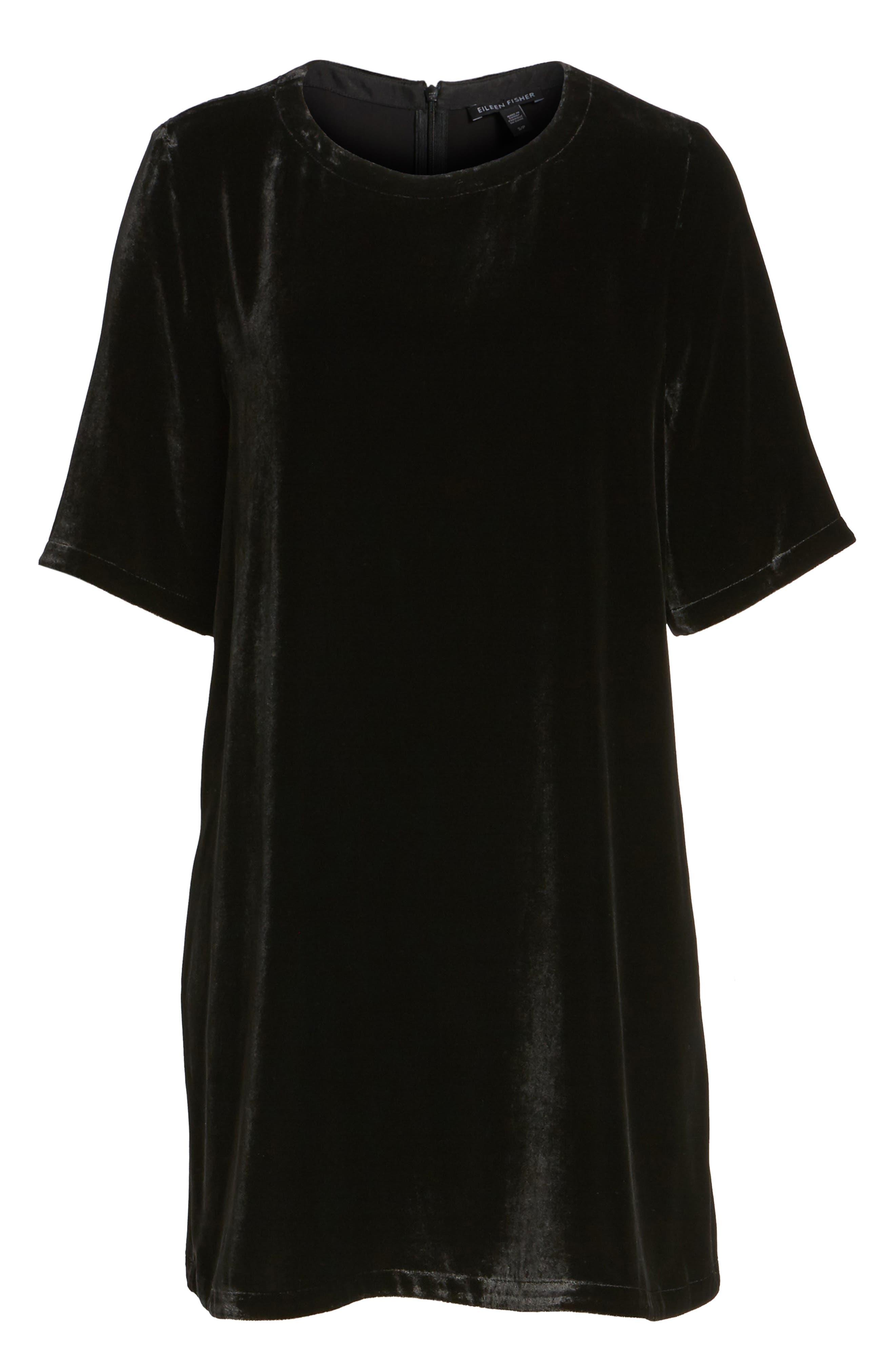 Velvet Tunic,                         Main,                         color, Black