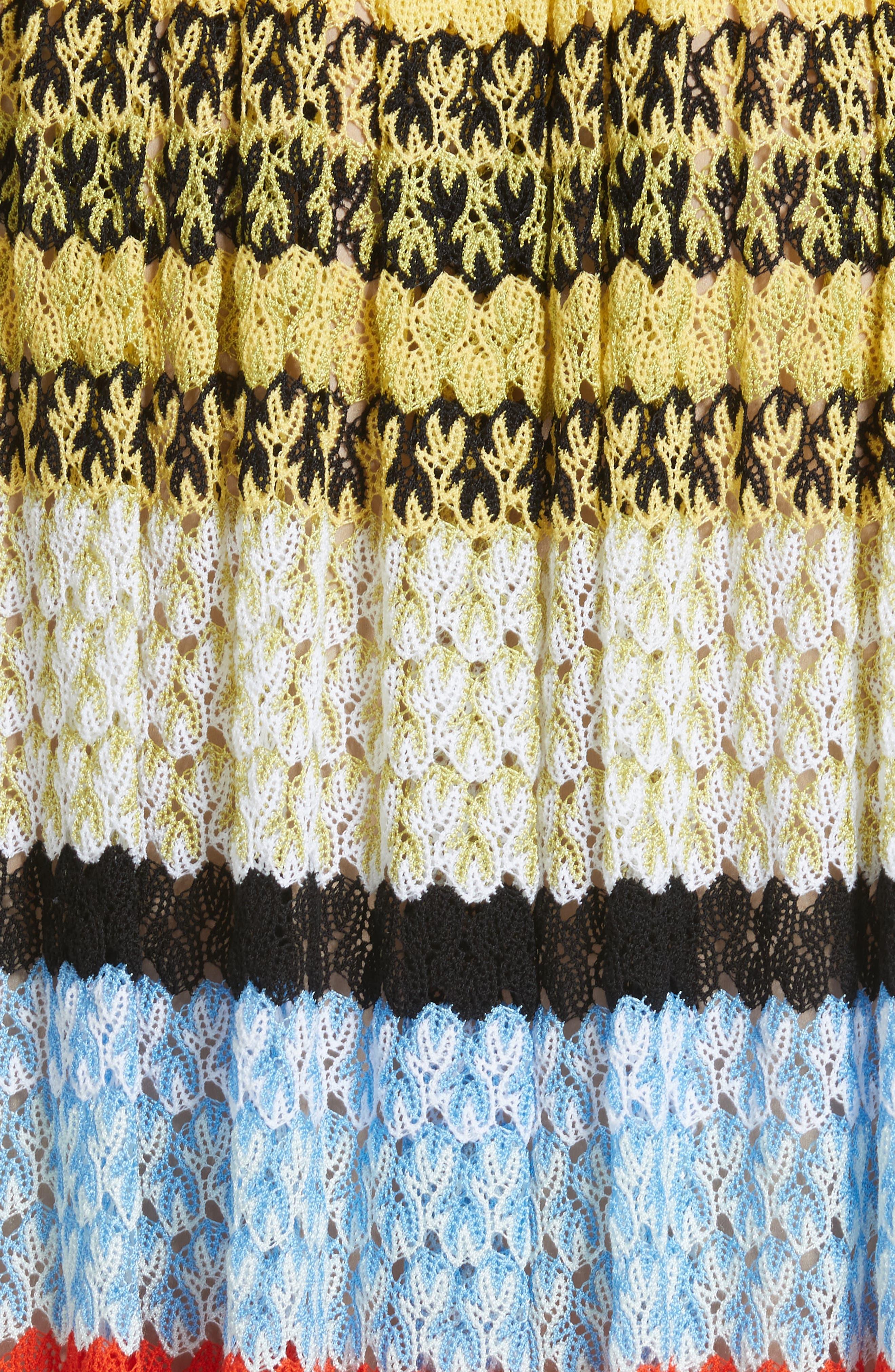 Stripe Knit Midi Skirt,                             Alternate thumbnail 5, color,                             Multi
