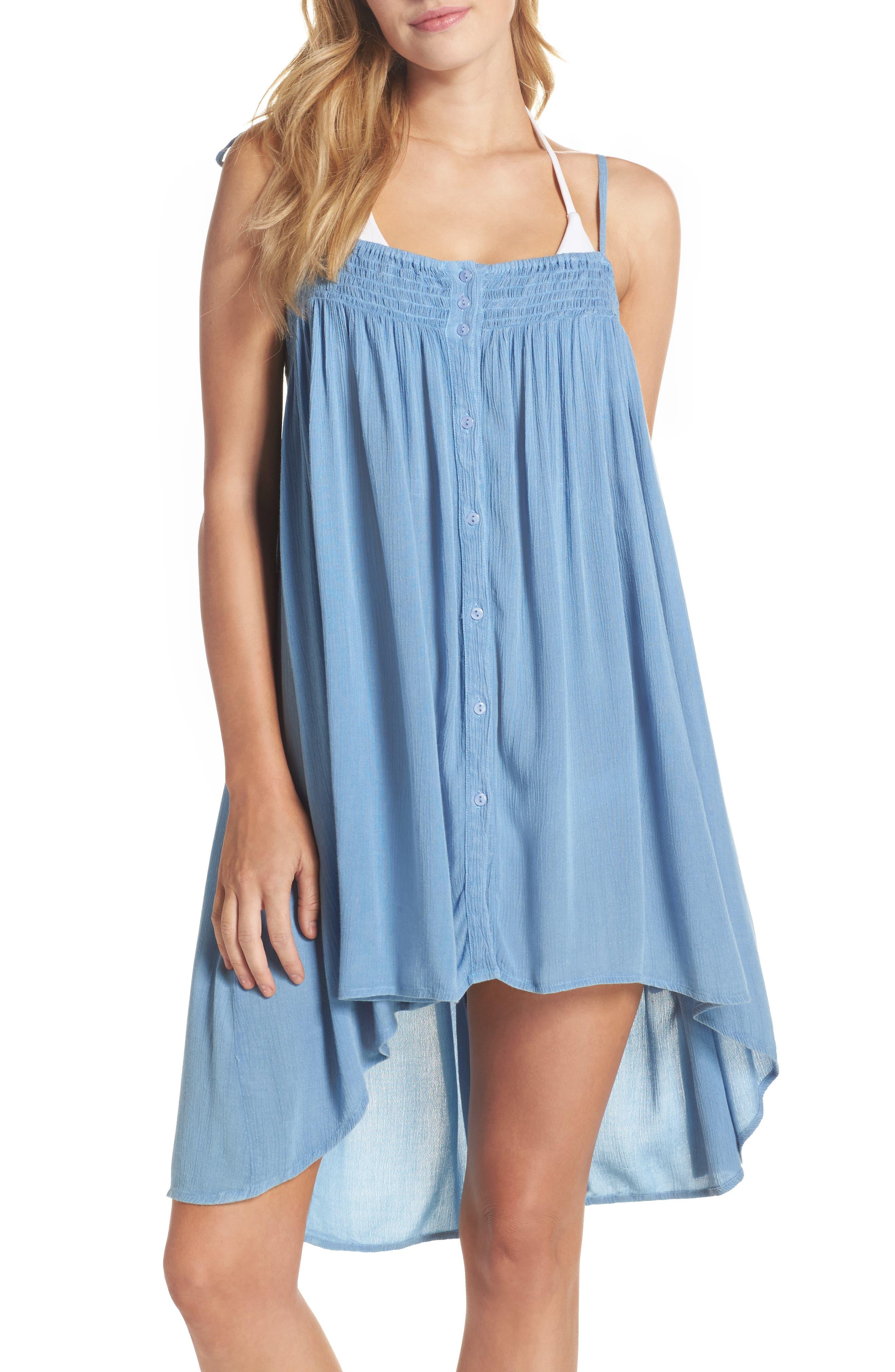 Oliva Cover-Up Dress,                         Main,                         color, Denim