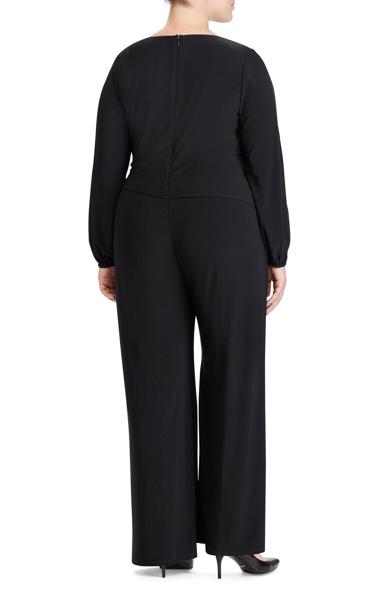 Alternate Image 2  - Lauren Ralph Lauren Gustana Jumpsuit (Plus Size)