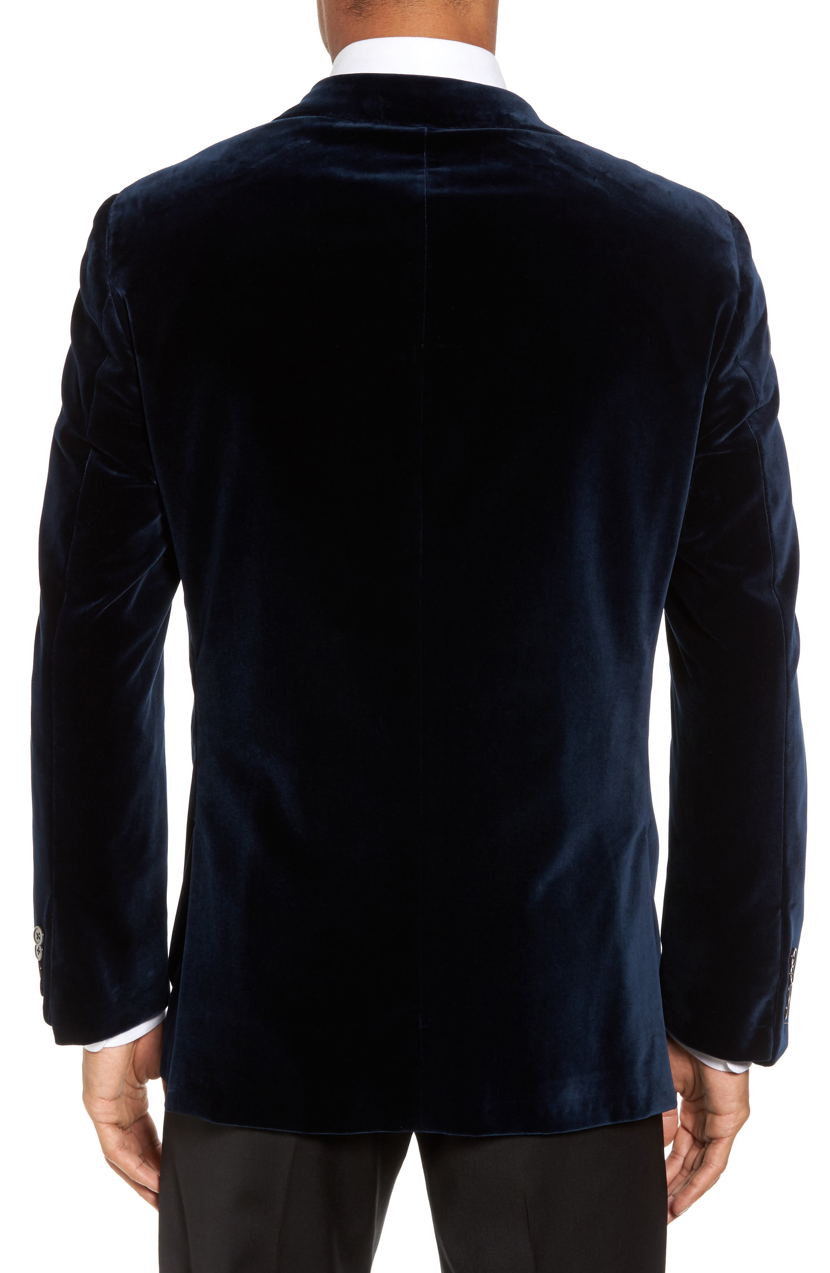 Alternate Image 2  - Hickey Freeman Classic B Fit Stretch Velvet Dinner Jacket