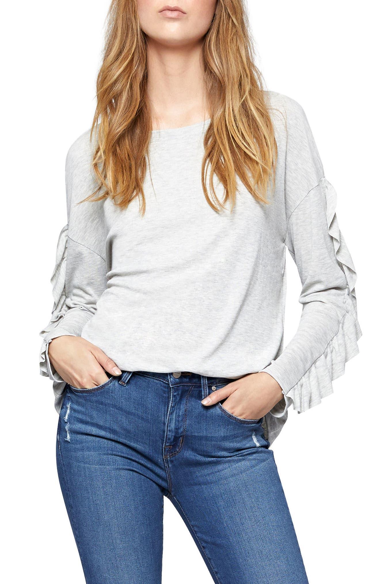 Main Image - Sanctuary Leona Ruffle Sleeve Sweater (Regular & Petite)