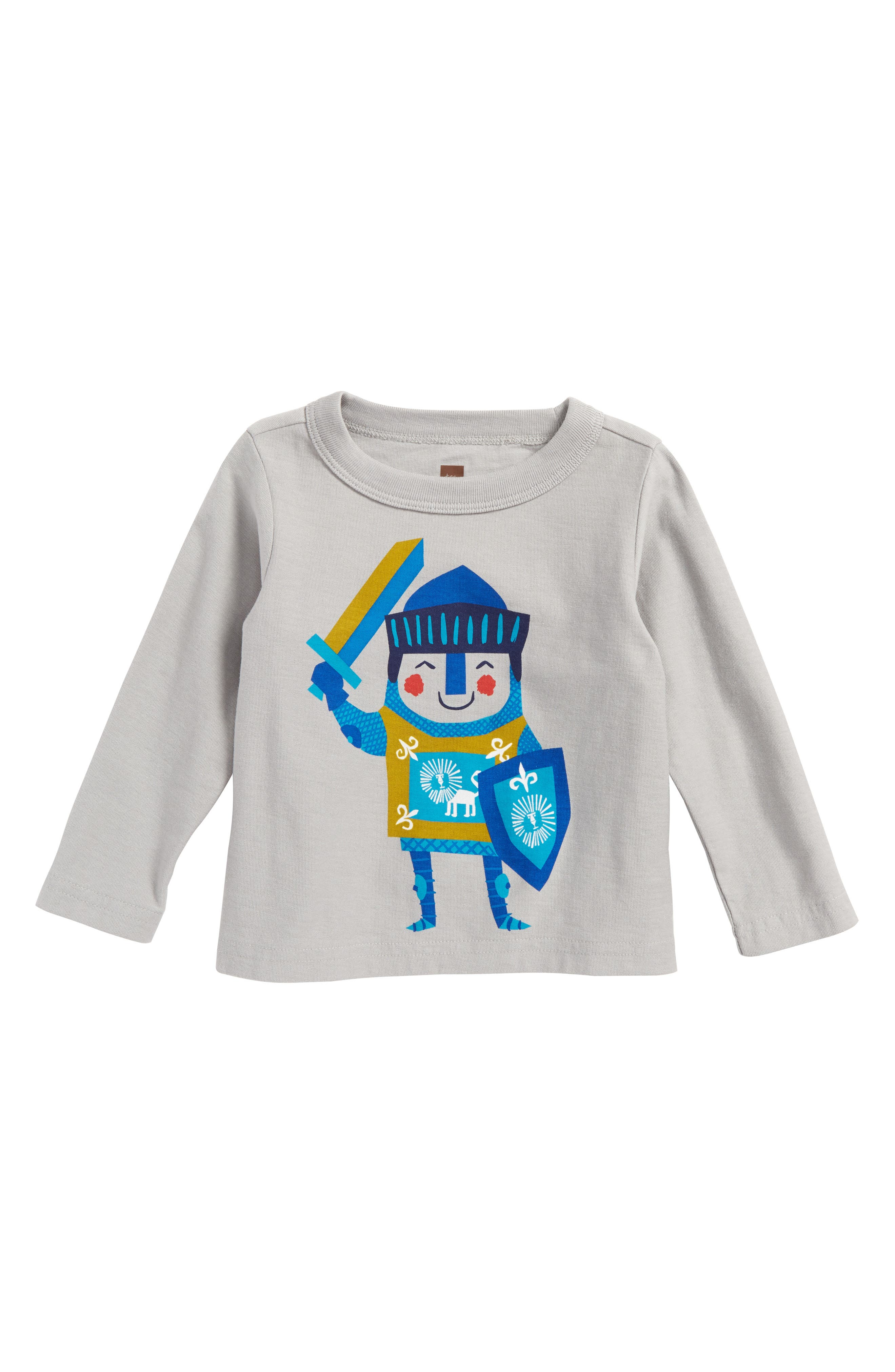 Little Knight T-Shirt,                         Main,                         color, Storm Grey