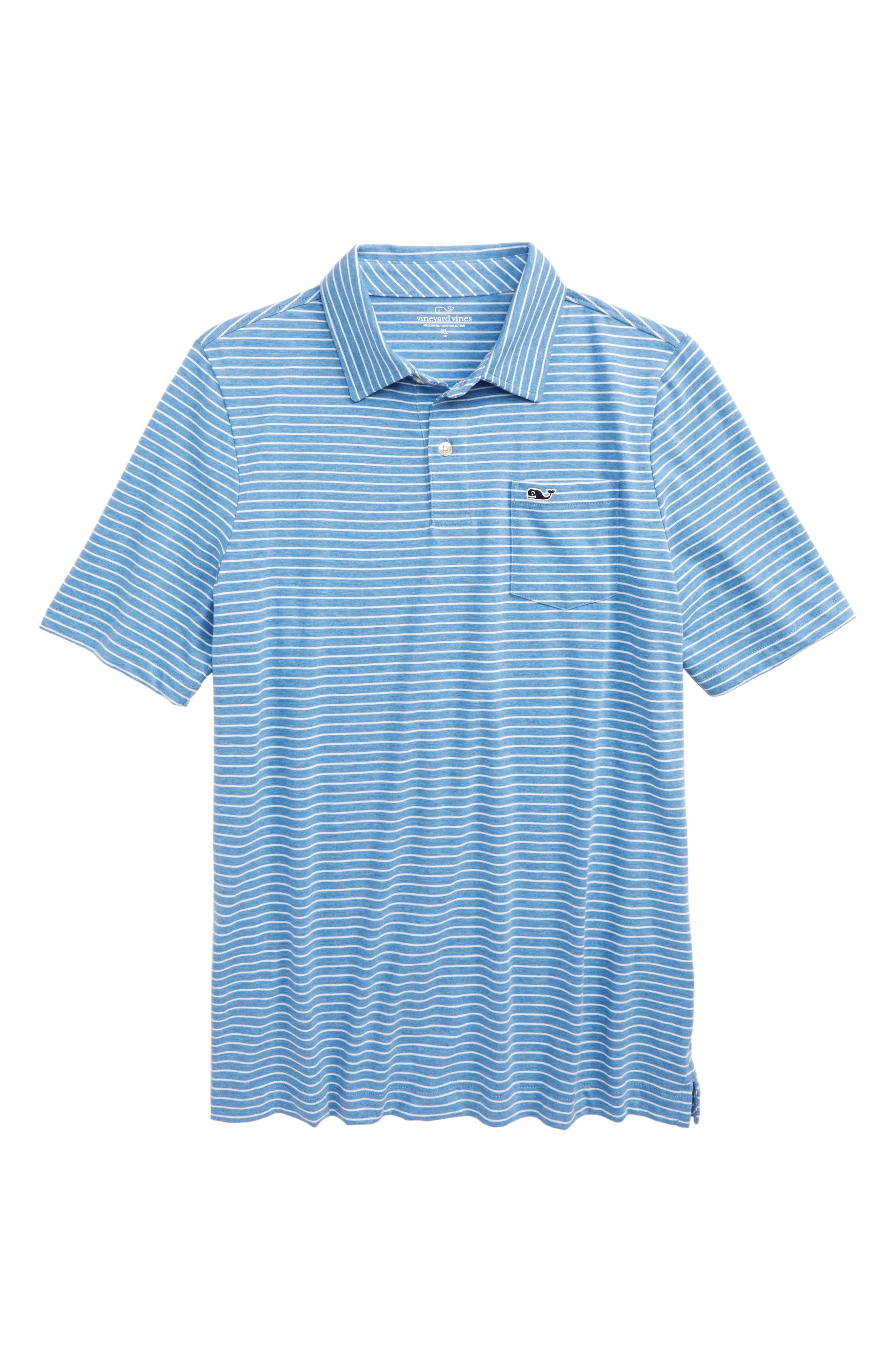 Feeder Stripe Jersey Polo,                             Main thumbnail 1, color,                             Dockside Blue