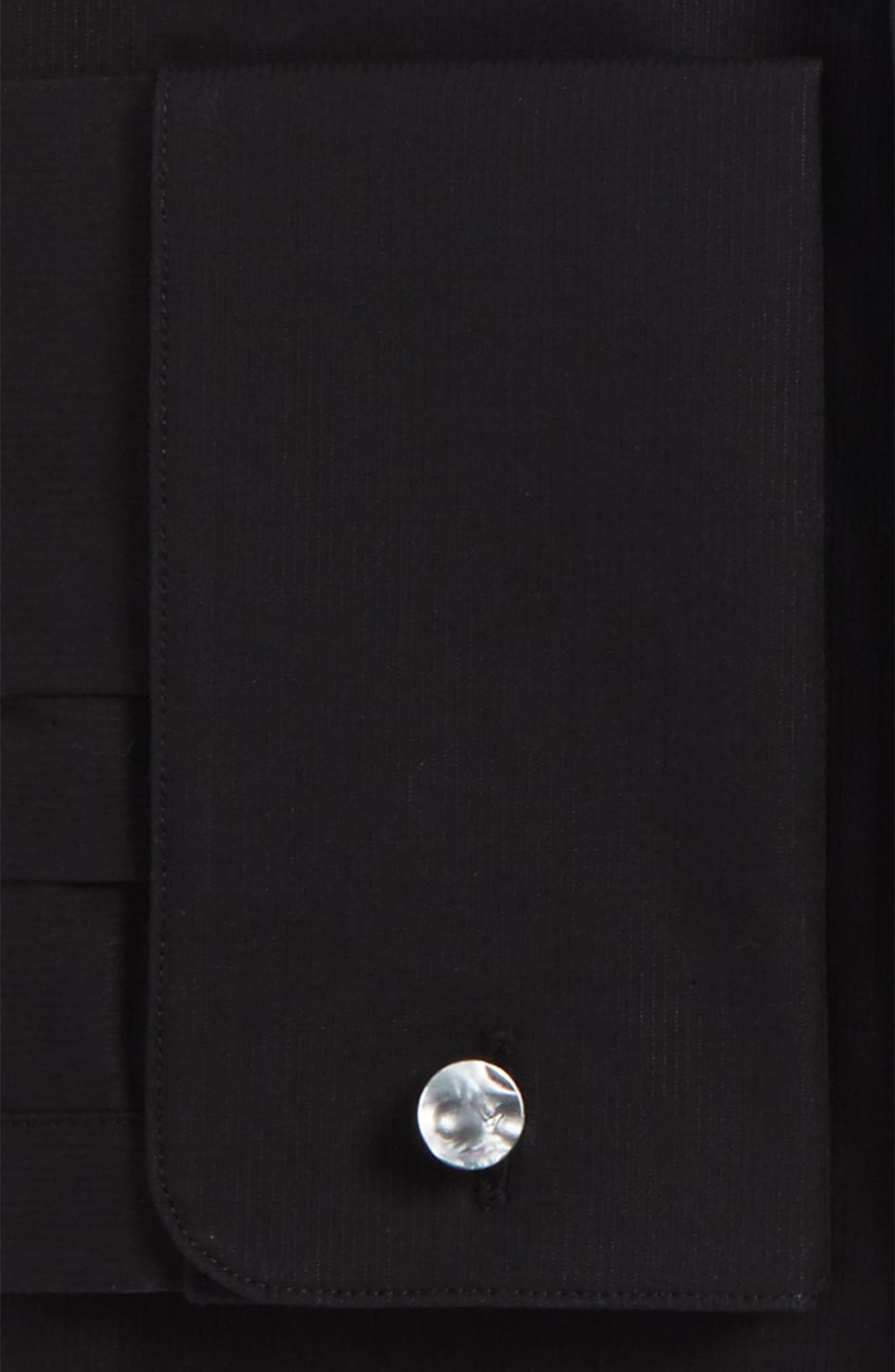Slim Fit Stretch Solid Dress Shirt,                             Alternate thumbnail 2, color,                             Black