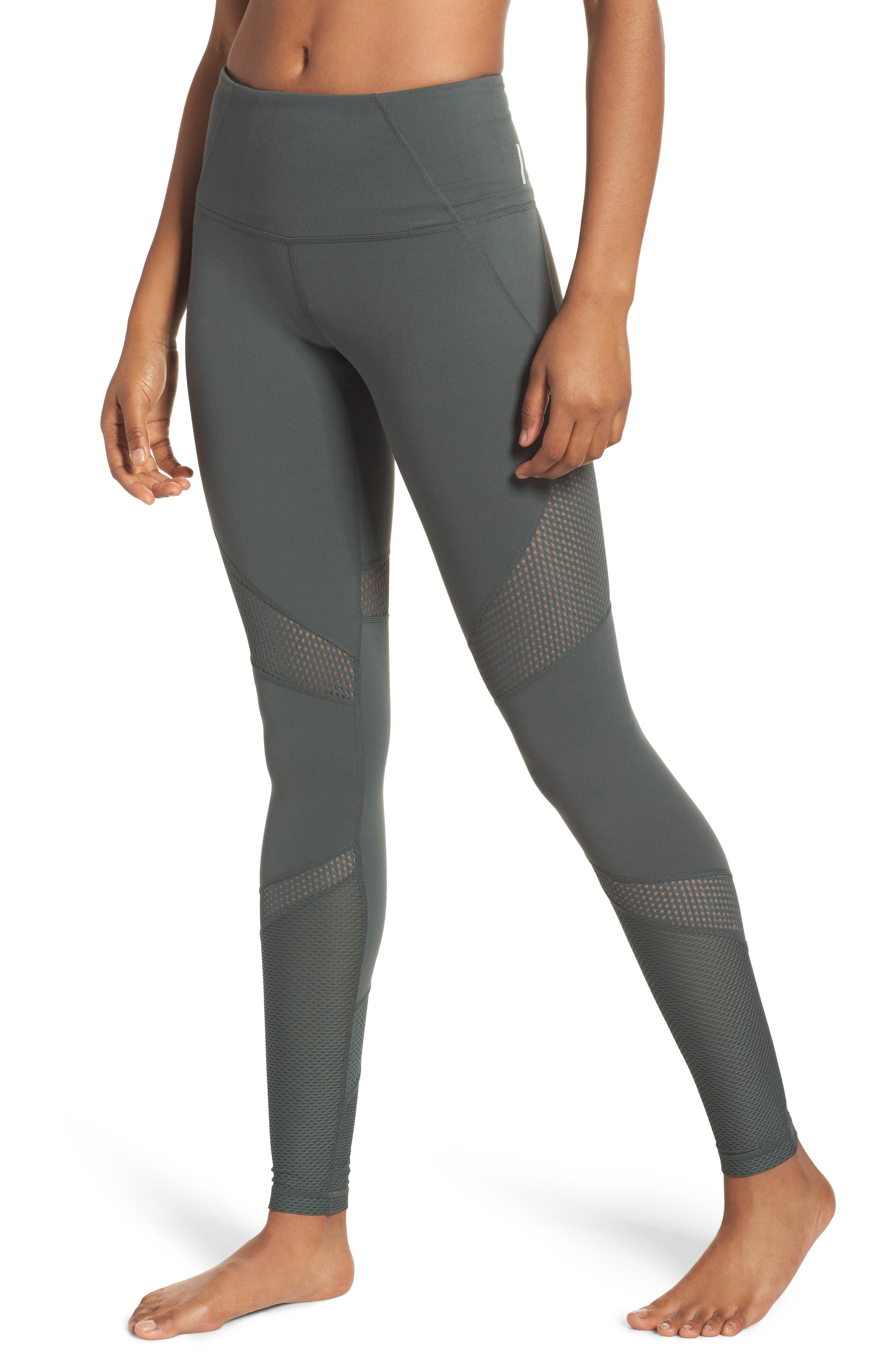 Out of Bounds High Waist Leggings,                         Main,                         color, Grey Urban