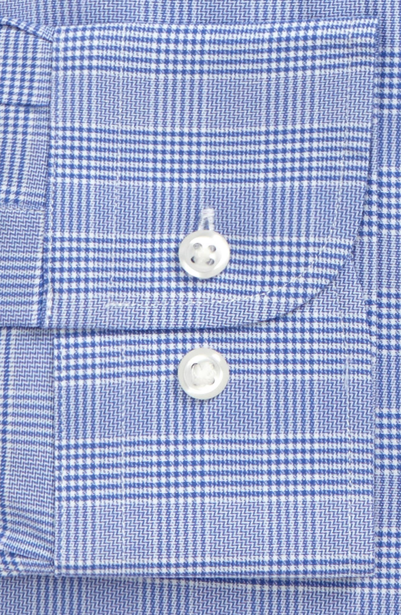 Alternate Image 3  - Nordstrom Men's Shop Tech-Smart Trim Fit Stretch Plaid Dress Shirt