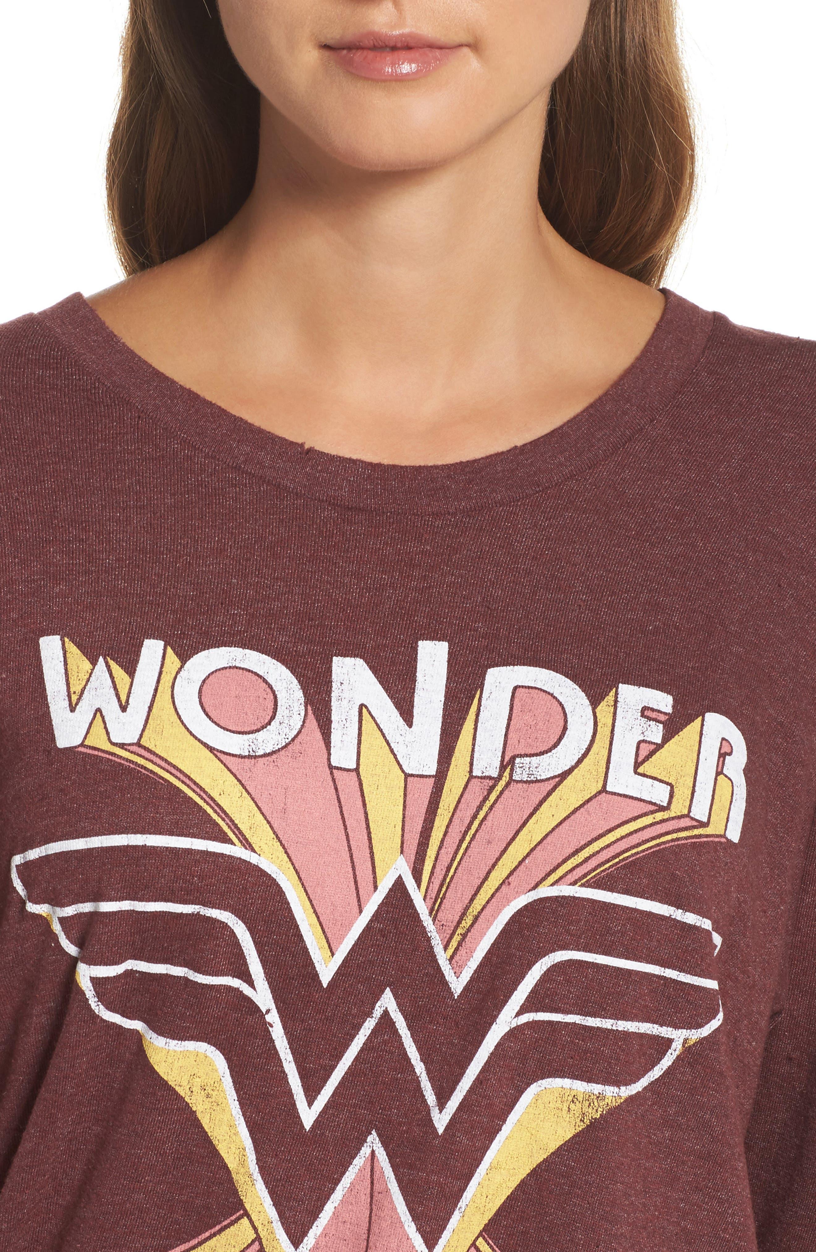 Wonder Woman Sweatshirt,                             Alternate thumbnail 5, color,                             Saint