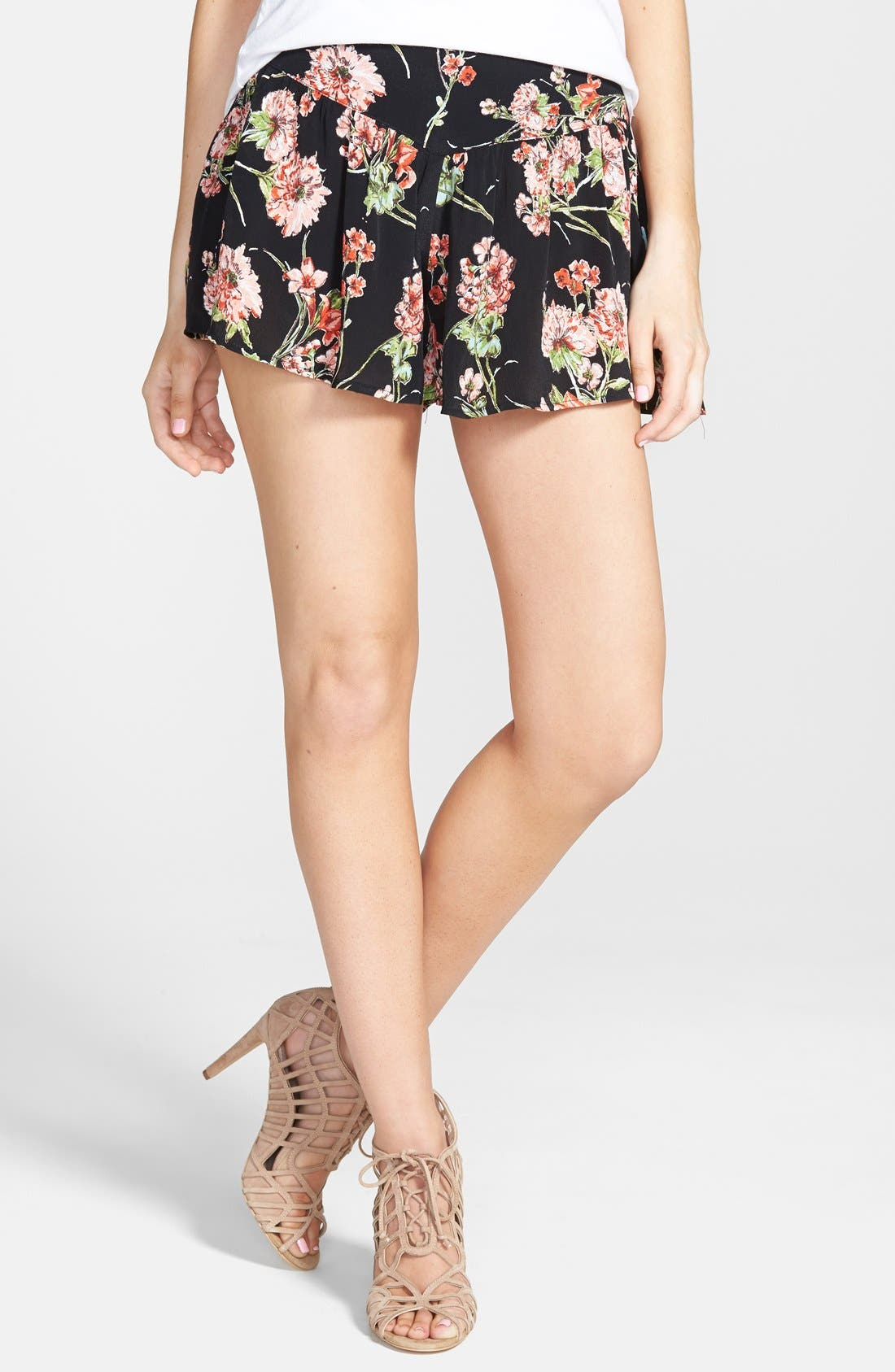 Alternate Image 1 Selected - Band of Gypsies Floral Shorts
