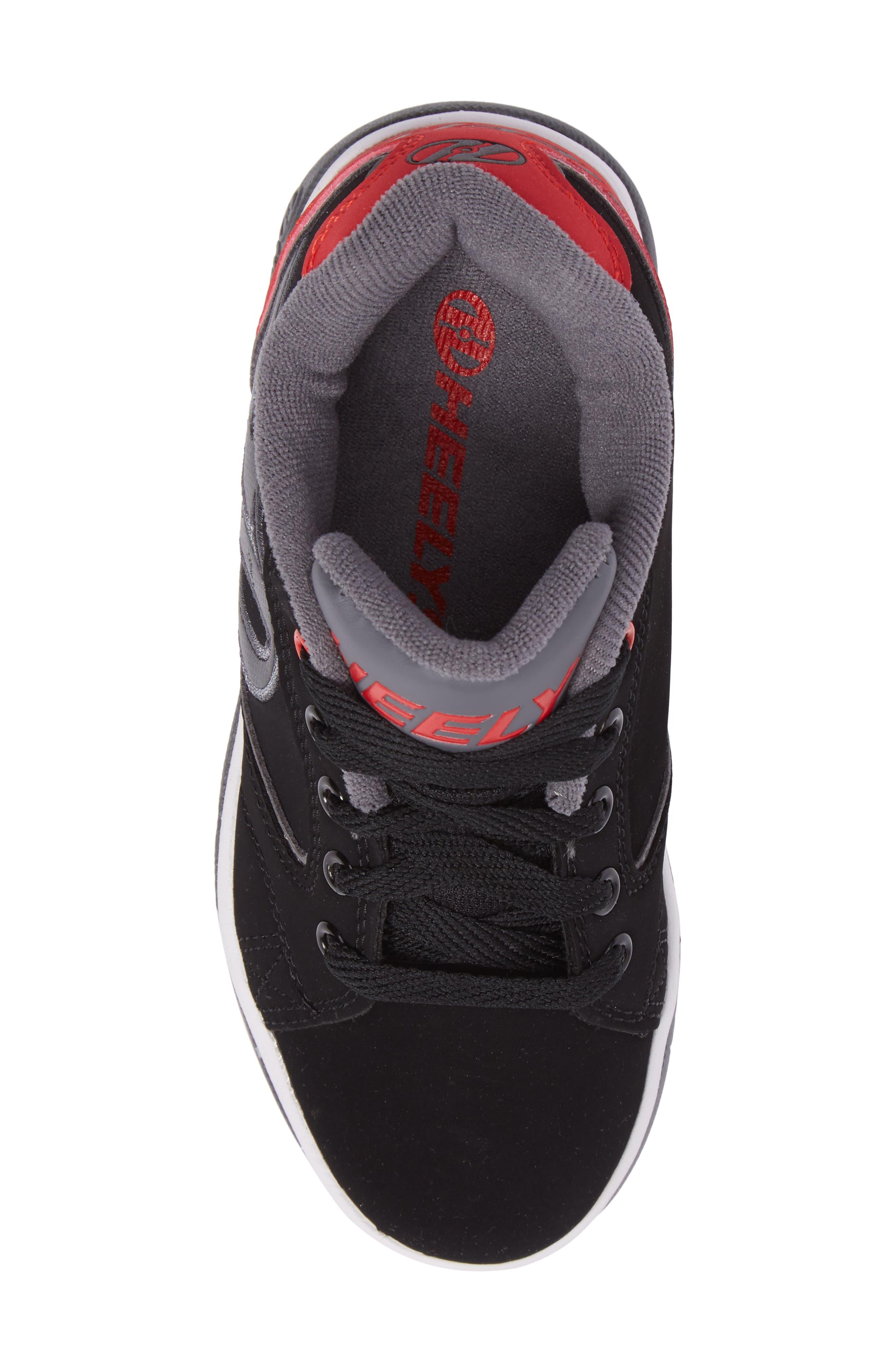 Heeleys'Propel 2.0' Sneaker,                             Alternate thumbnail 5, color,                             Black/ Red/ Grey