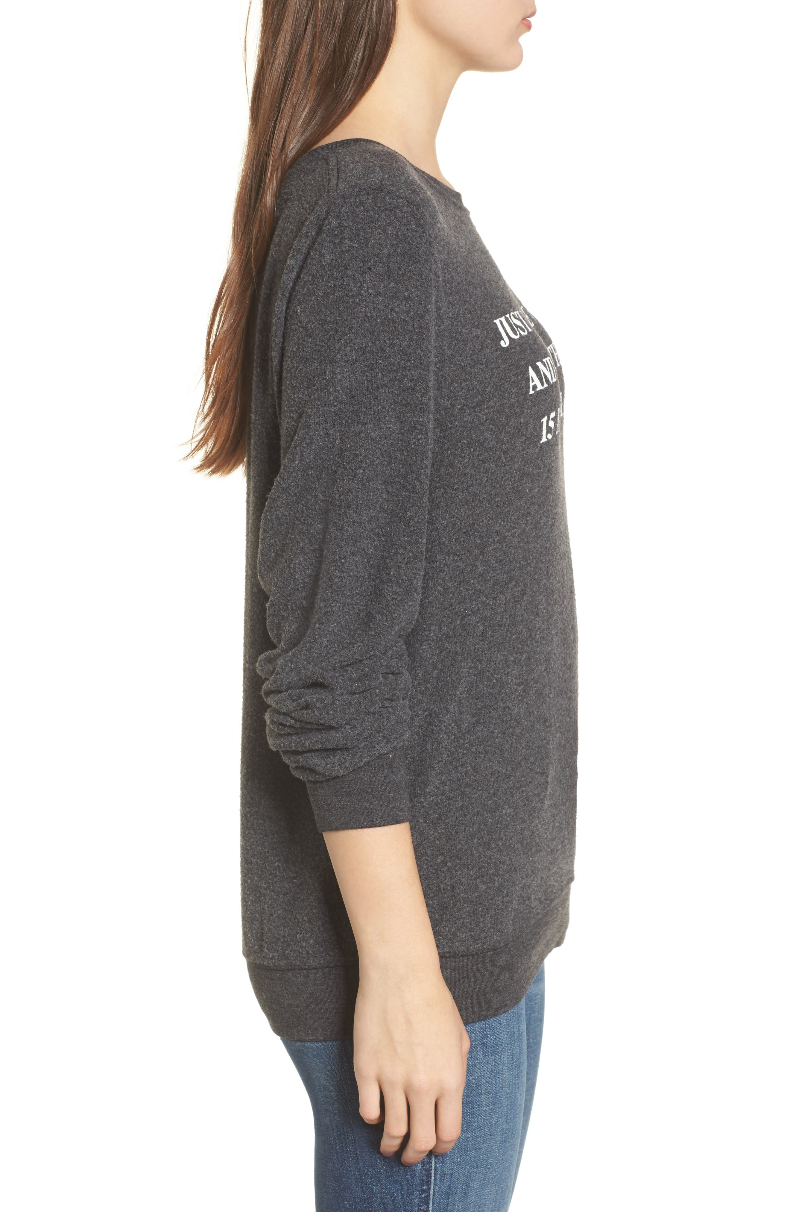 Just Tell Me When Sweatshirt,                             Alternate thumbnail 3, color,                             Black