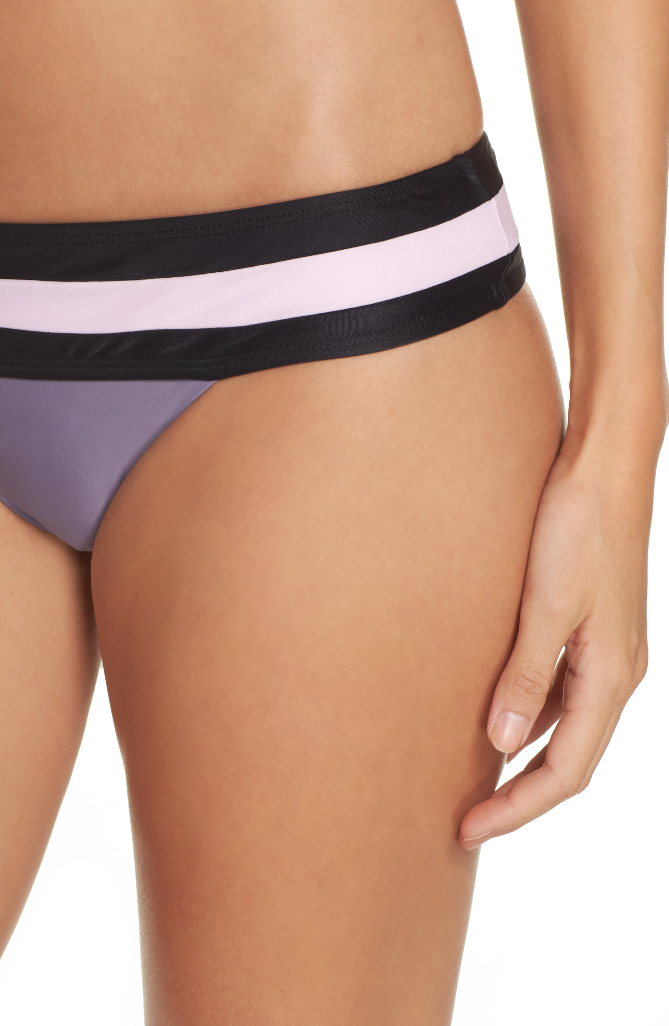 Swimwear Bikini Bottoms,                             Alternate thumbnail 4, color,                             Amethyst