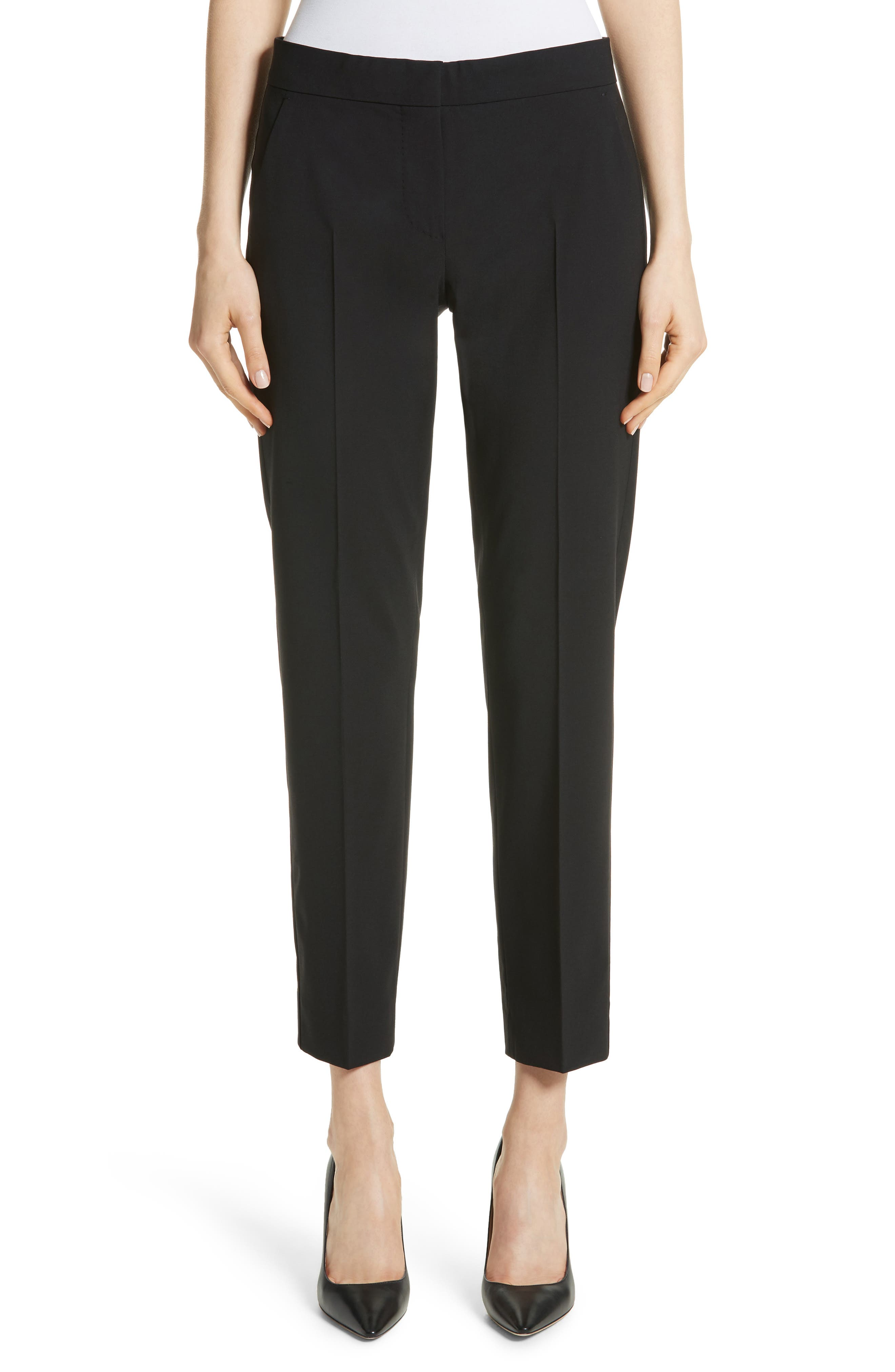 Giga Stretch Wool Crop Pants,                         Main,                         color, Black