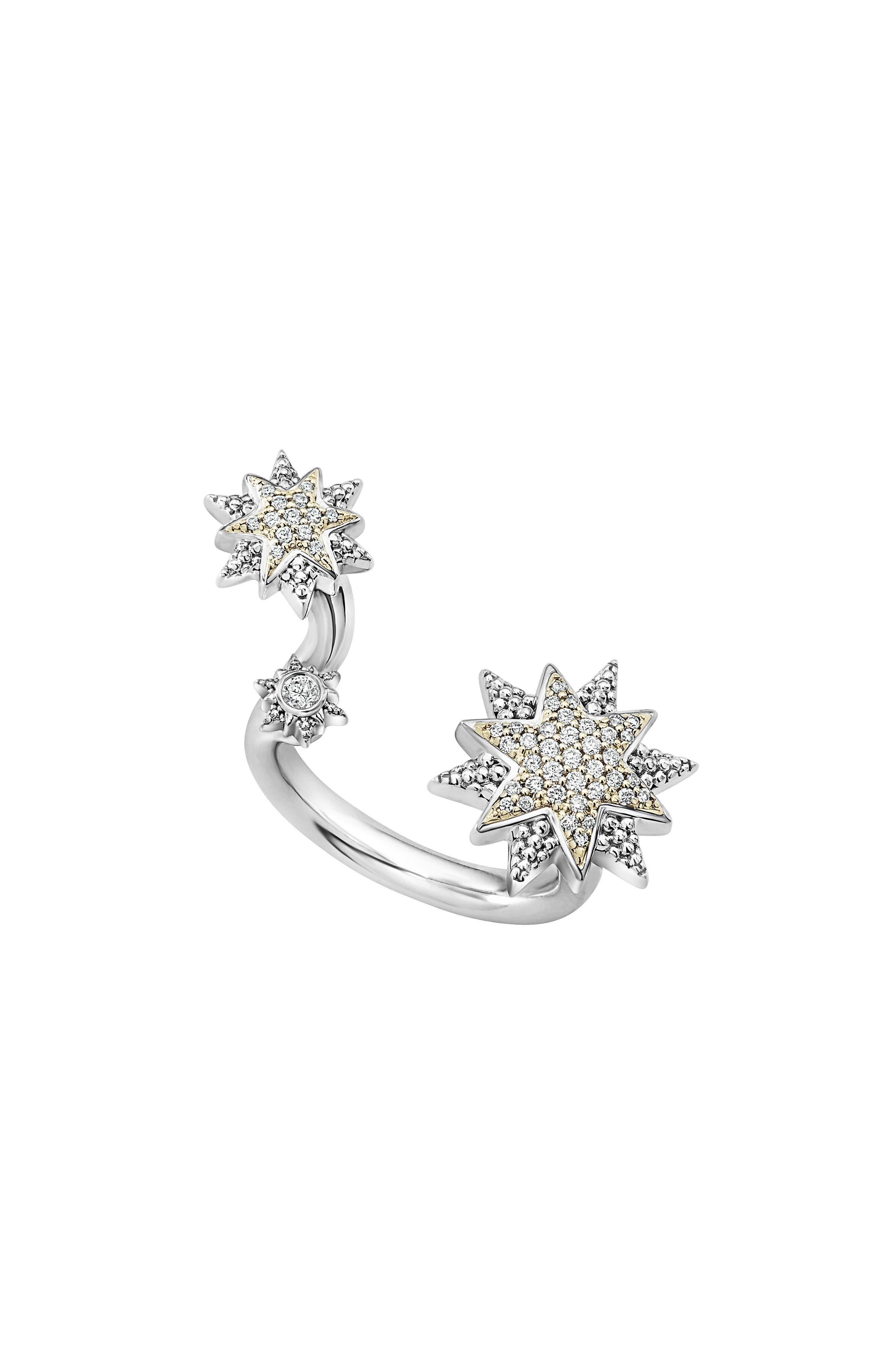 North Star Diamond Ring,                             Main thumbnail 1, color,                             Diamond