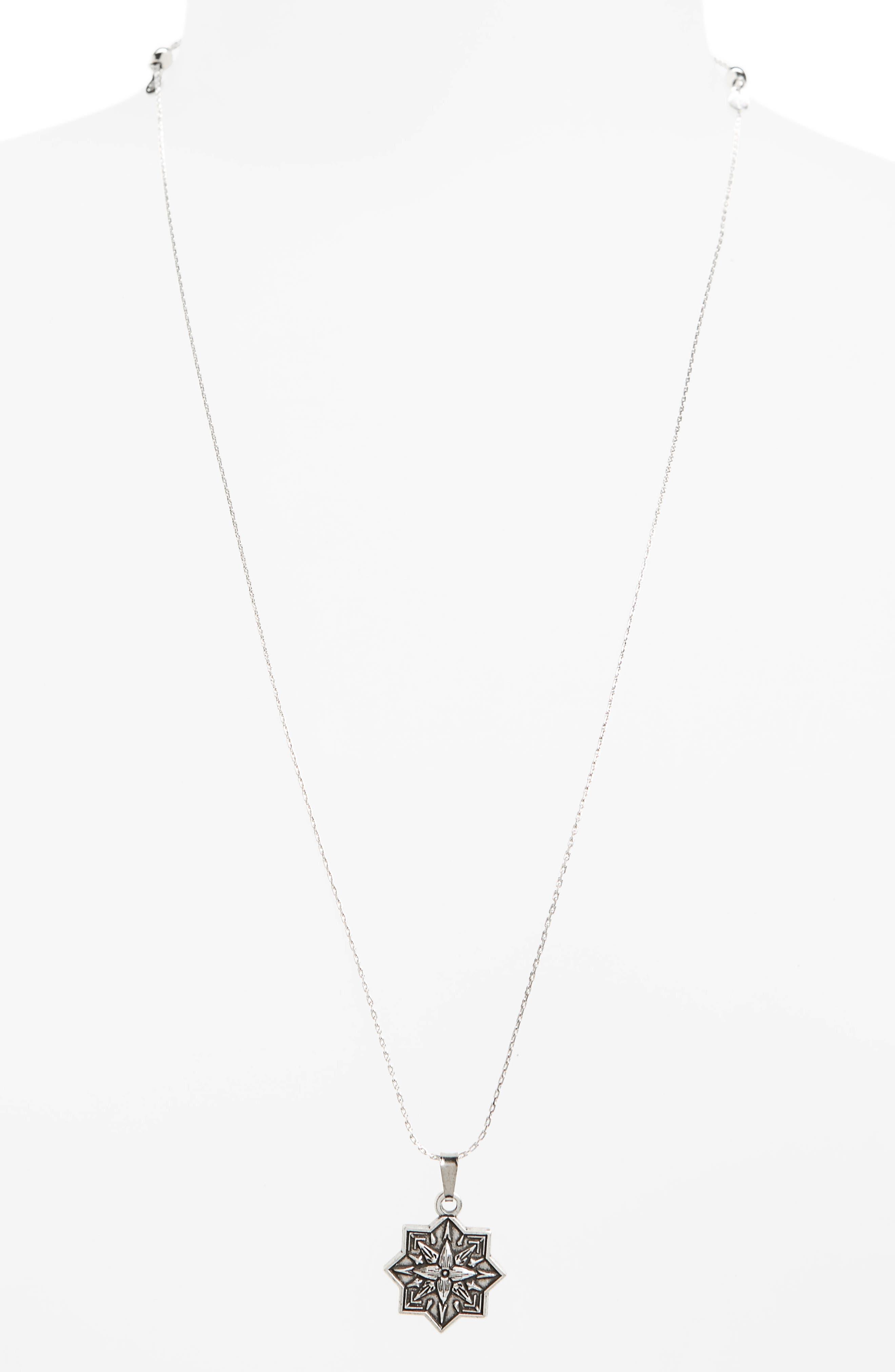 Healing Love II Expandable Pendant Necklace,                             Main thumbnail 1, color,                             Silver