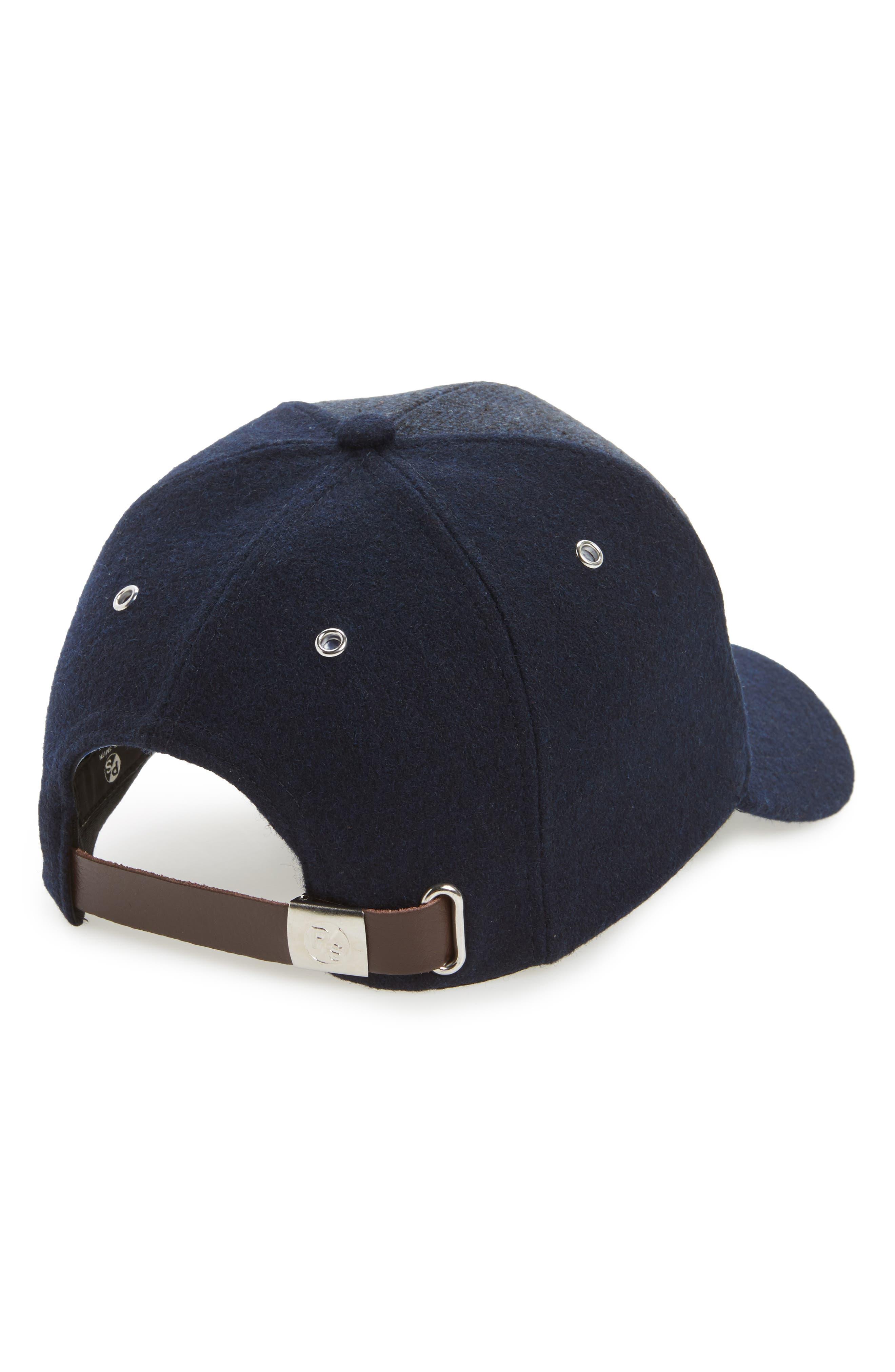 Herringbone Baseball Cap,                             Alternate thumbnail 2, color,                             Navy